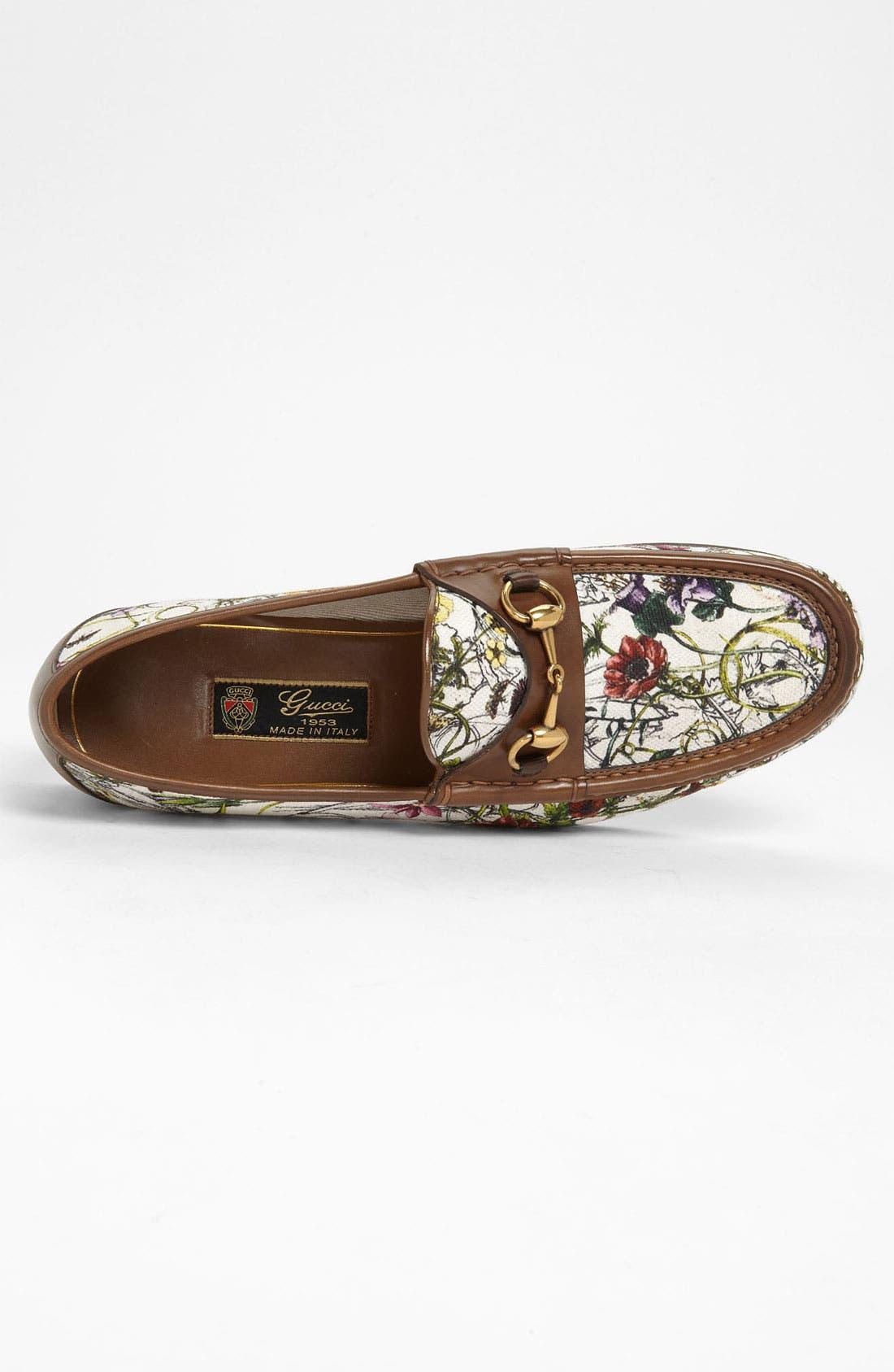 Alternate Image 3  - Gucci 'Roos' Floral Bit Loafer