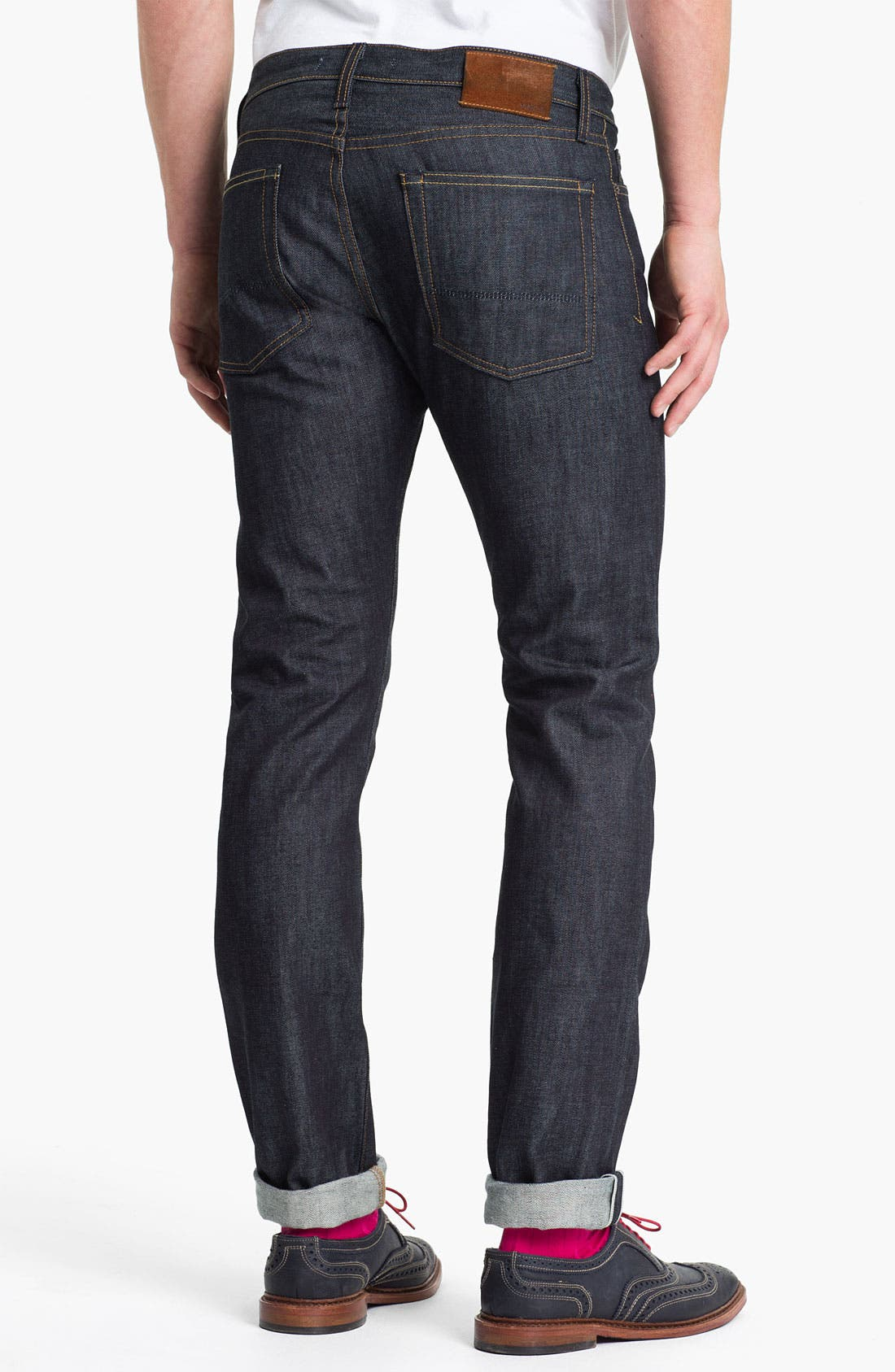Main Image - Vince Selvedge Straight Leg Jeans (Raw)