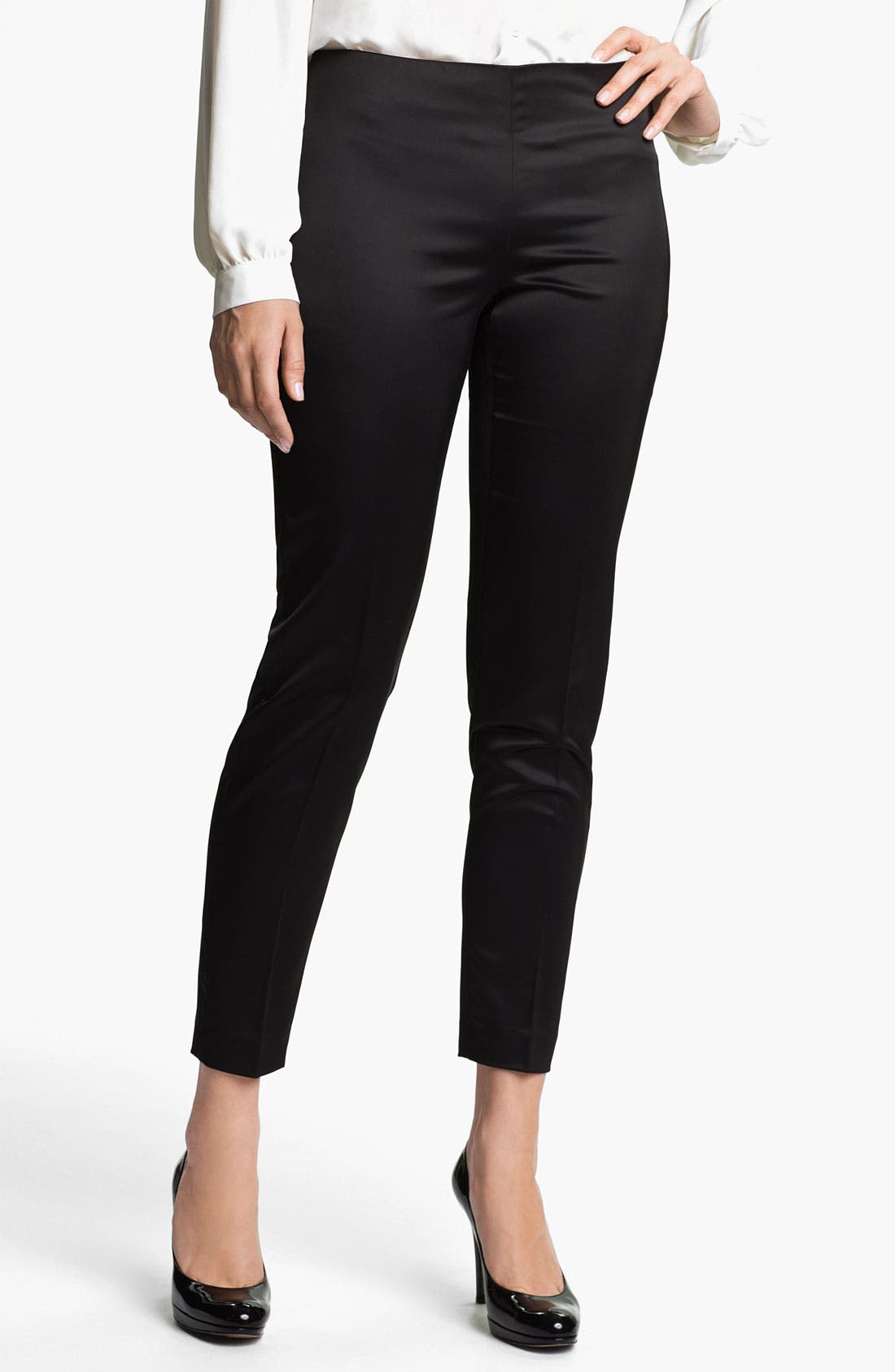 Alternate Image 1 Selected - Vince Camuto Satin Ankle Pants