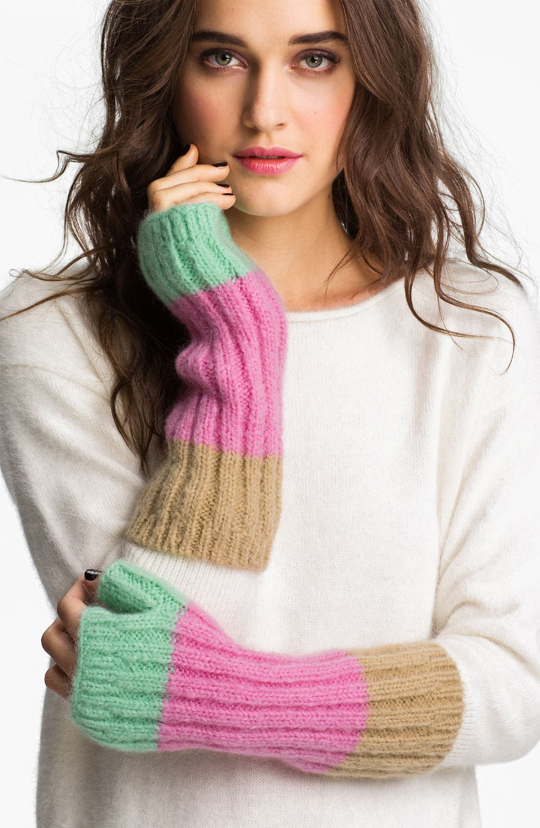 Alternate Image 1 Selected - Juicy Couture Colorblock Fingerless Gloves