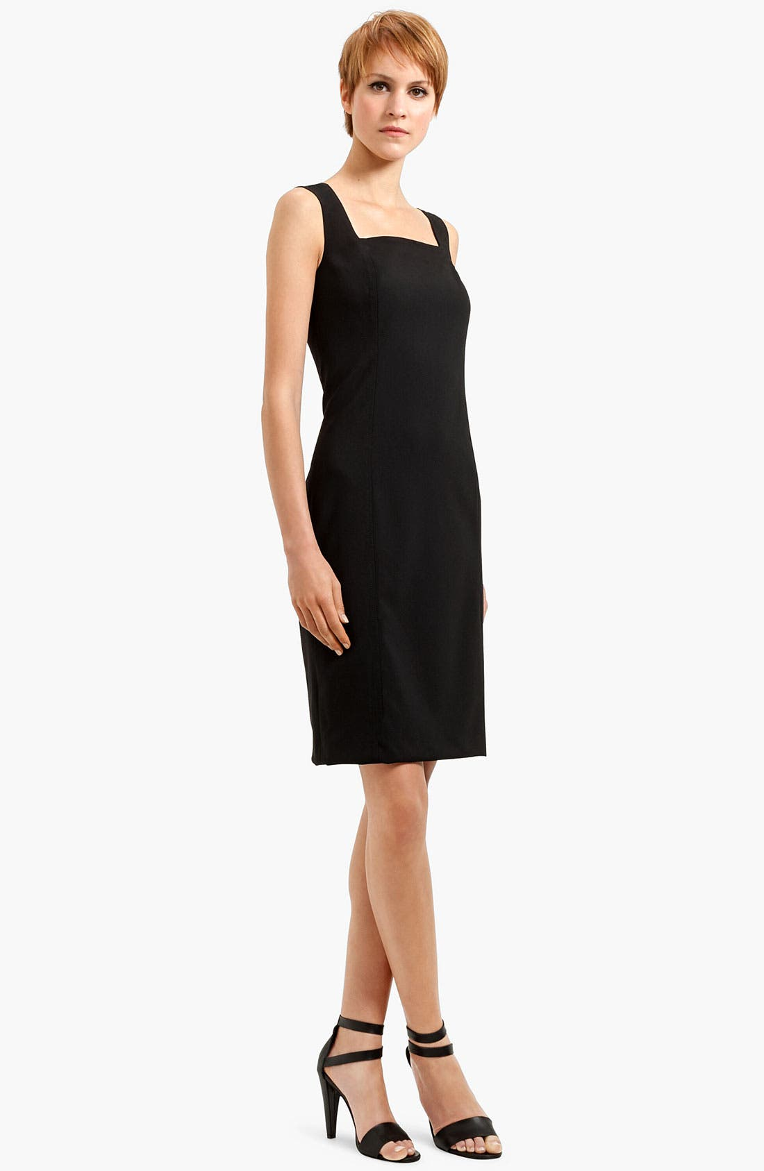 Alternate Image 2  - Akris punto Square Neck Wool Sheath Dress