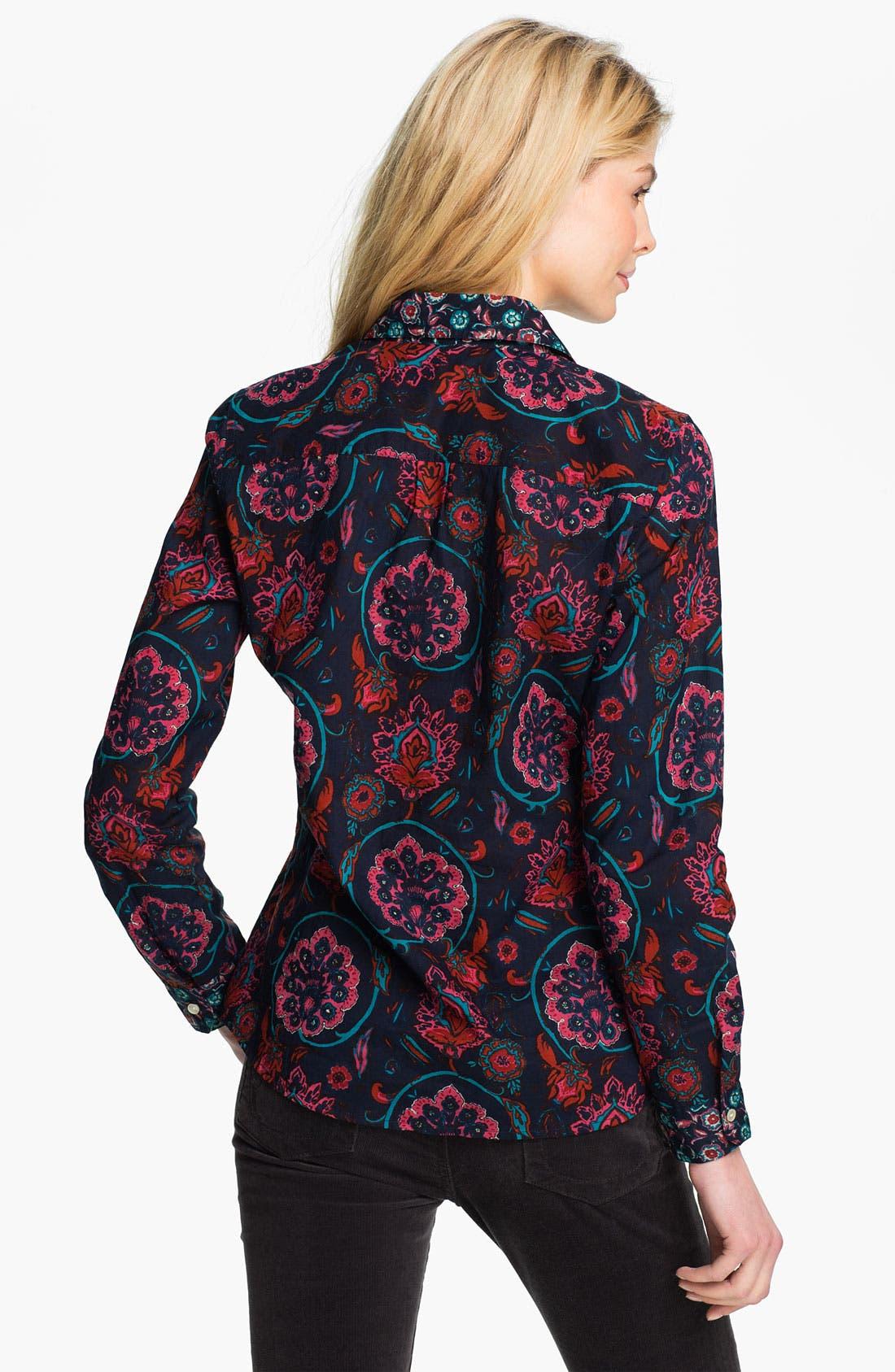 Alternate Image 2  - Lucky Brand 'Joan' Scarf Shirt