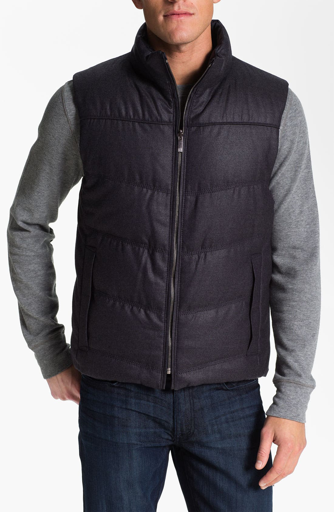 Main Image - BOSS Selection 'Laurian' Reversible Quilted Vest