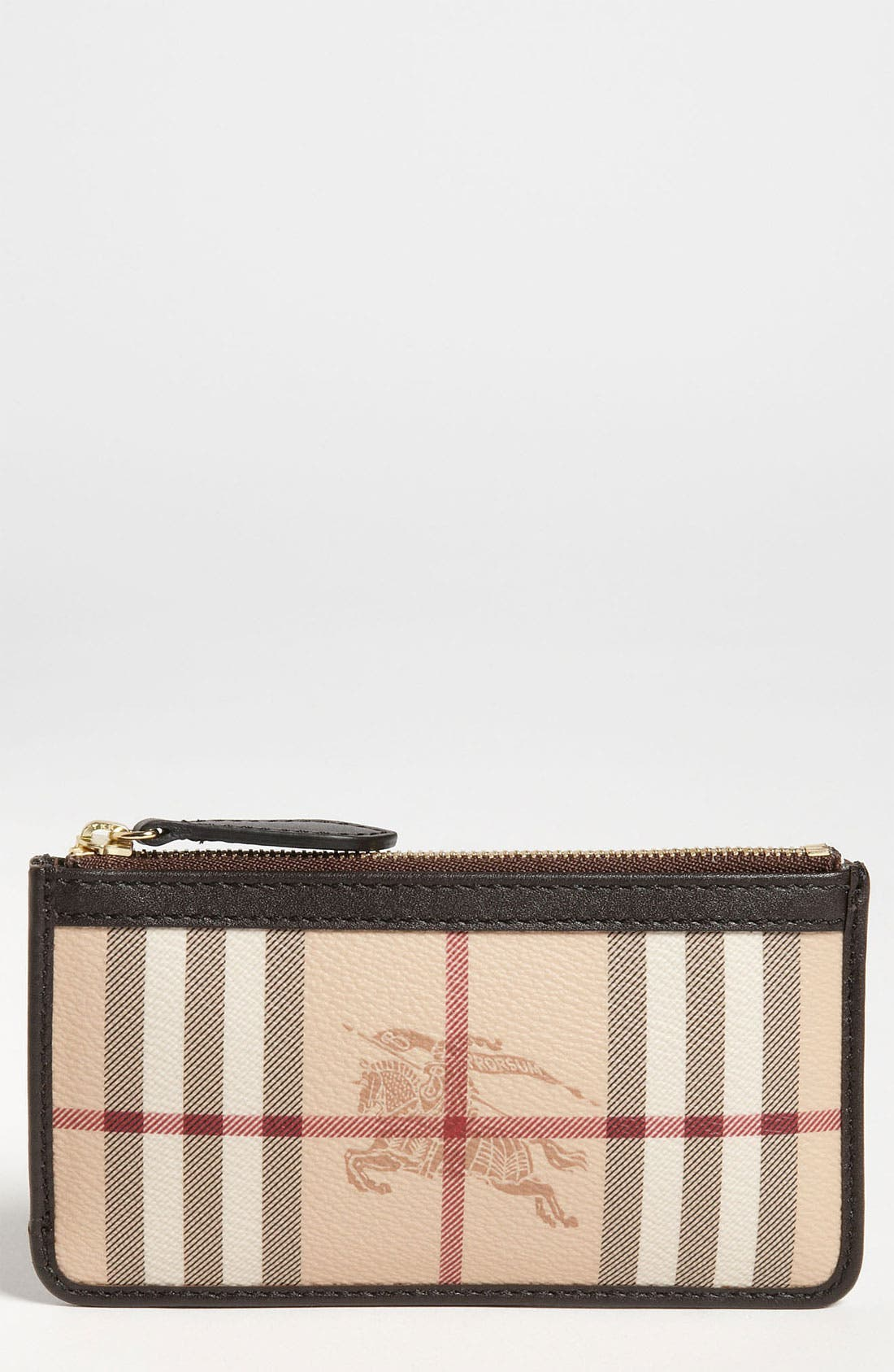 Main Image - Burberry Check Print Coin & Card Case