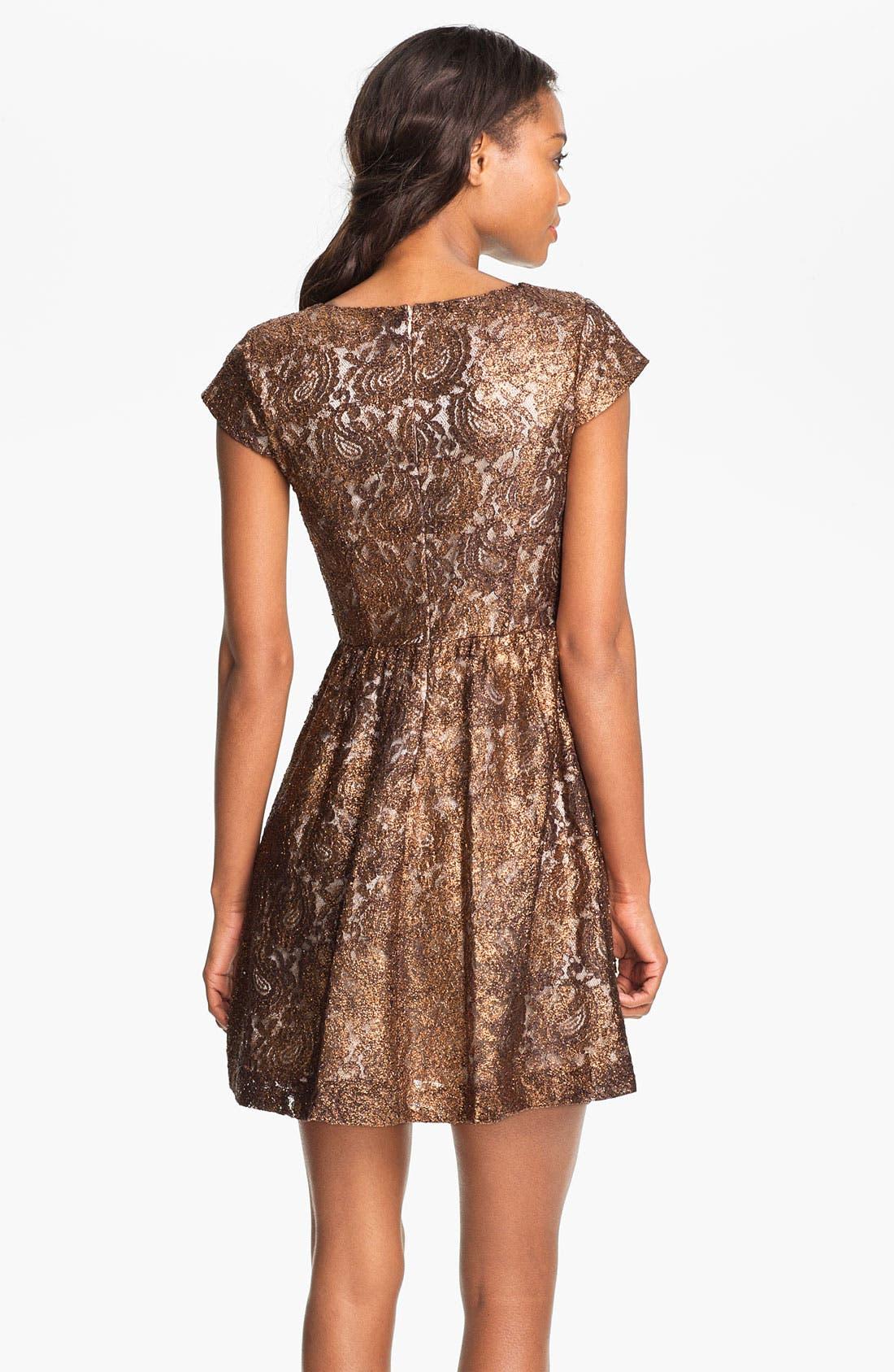 Alternate Image 2  - Kensie Foil Lace Dress (Online Exclusive)