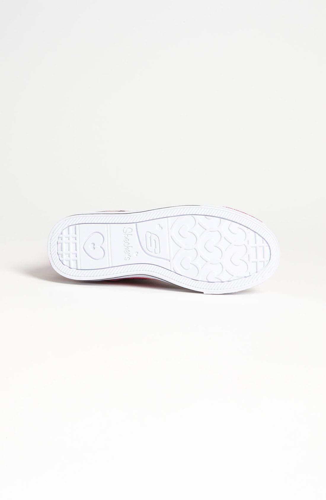 Alternate Image 4  - SKECHERS 'Twinkle Toes - Shuffles Love Stories' Sneaker (Toddler & Little Kid)