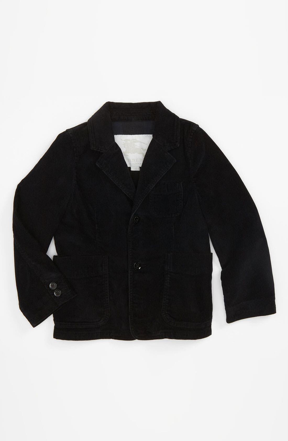 Main Image - Burberry Tailored Corduroy Jacket (Infant)