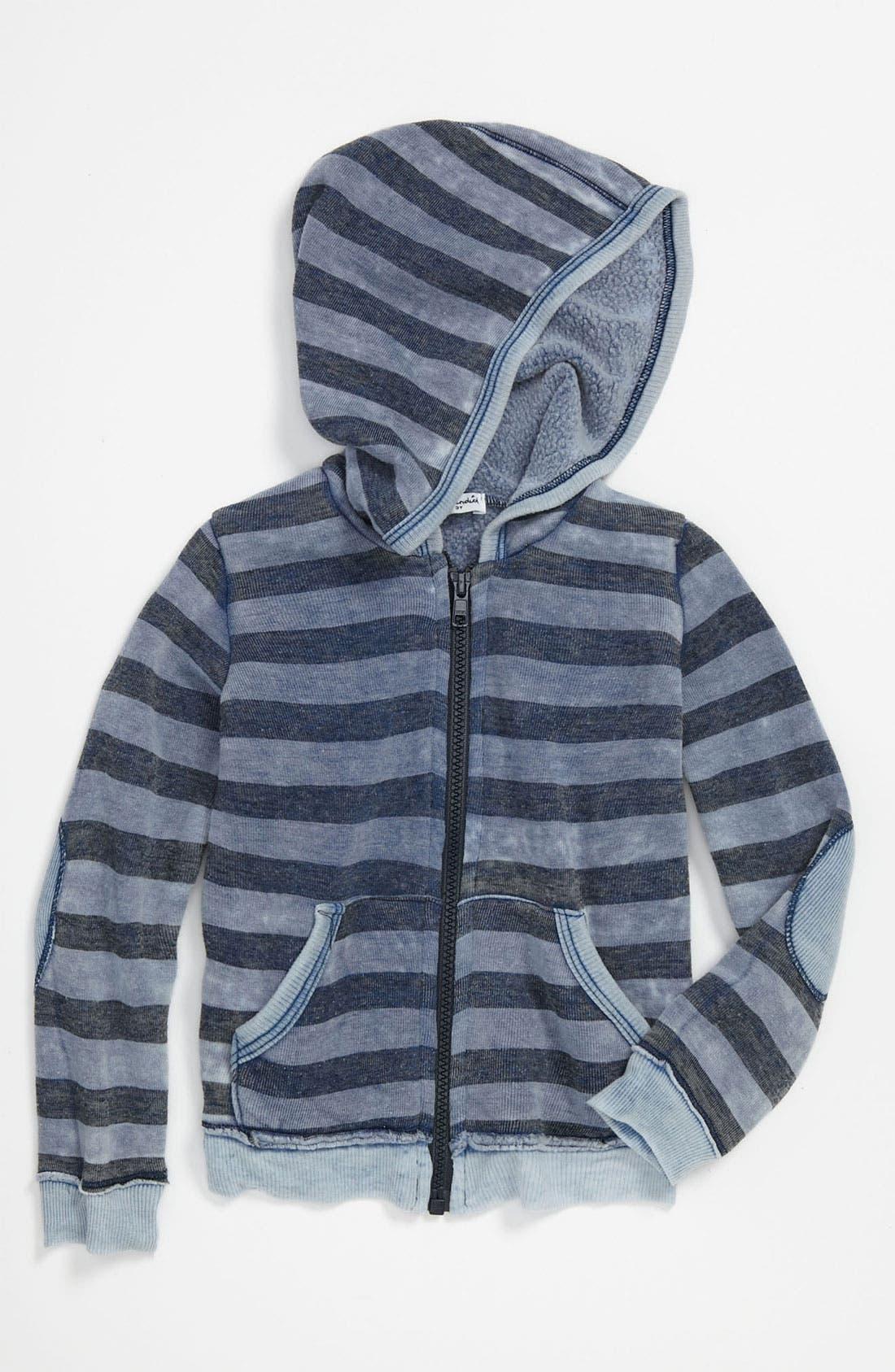 Alternate Image 1 Selected - Splendid Stripe Burnout Hoodie (Toddler)