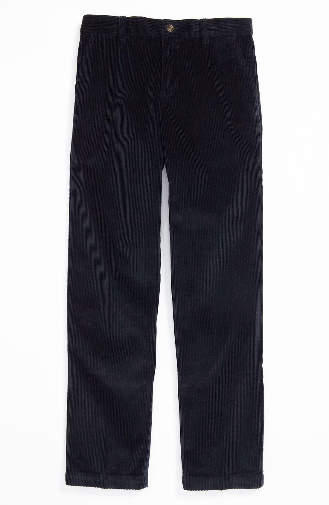 Alternate Image 1 Selected - Brooks Brothers Wide Wale Corduroy Pants (Big Boys)