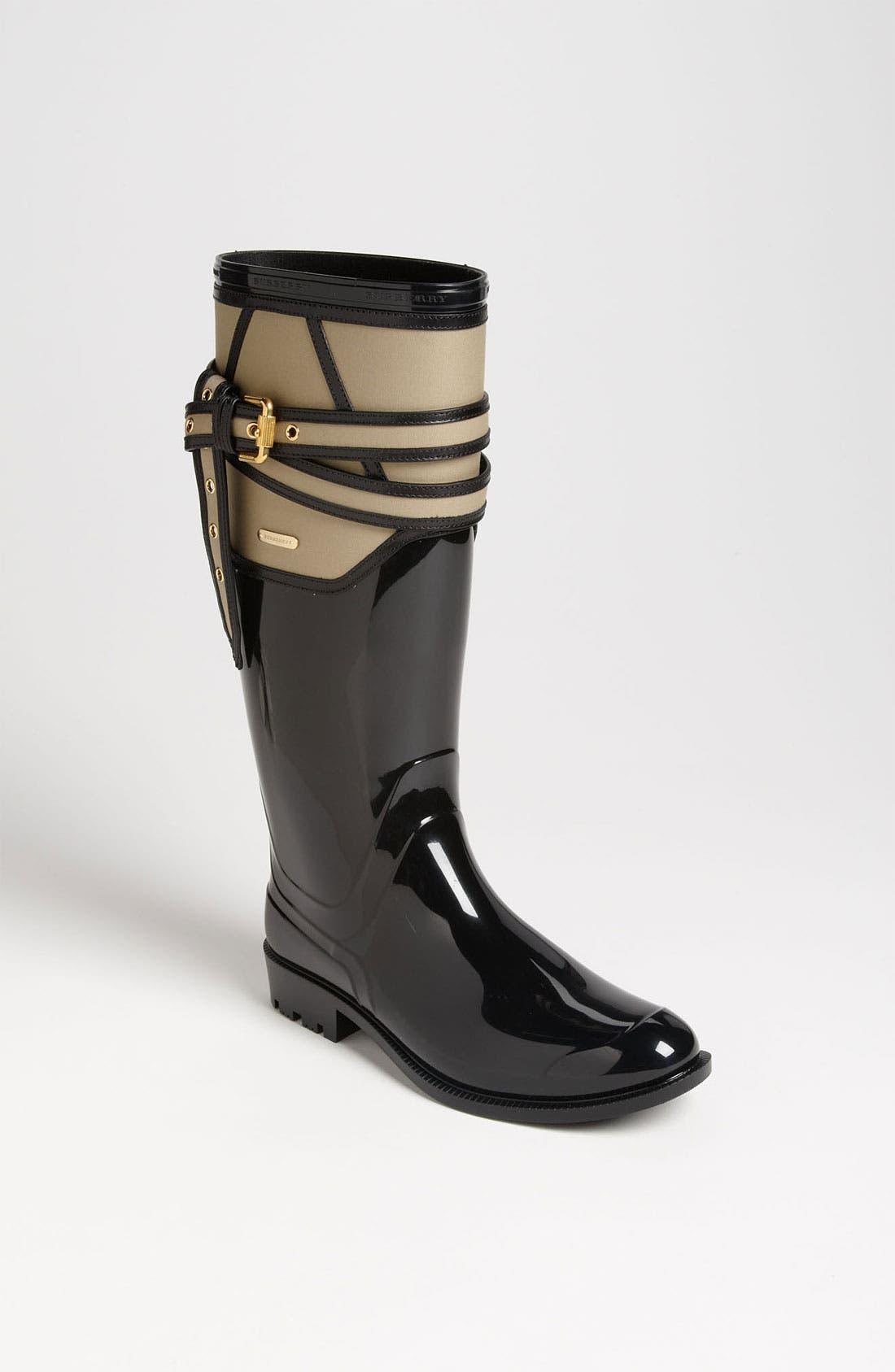 Alternate Image 1 Selected - Burberry 'Willesden' Rain Boot (Women)