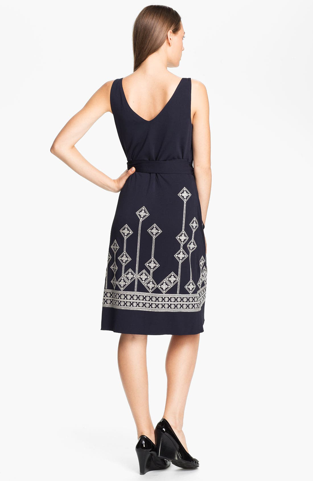 Alternate Image 2  - Tory Burch 'Reena' Embroidered Wrap Dress