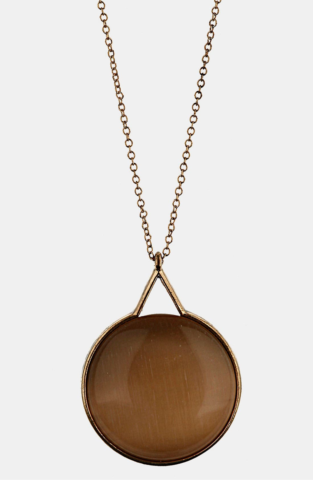 Alternate Image 1 Selected - Topshop 'Cat's Eye' Pendant Necklace