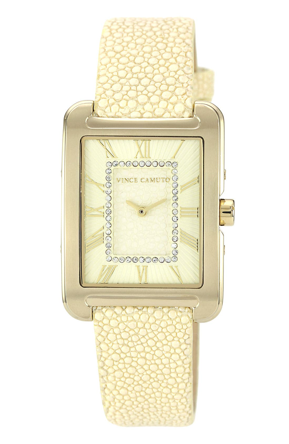 Alternate Image 1 Selected - Vince Camuto Stingray Print Dial & Embossed Strap Watch, 29mm x 34mm