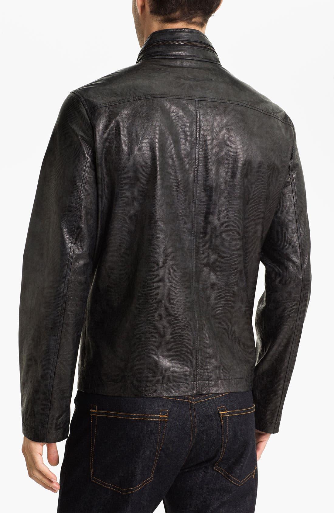 Alternate Image 2  - Michael Kors Embossed Leather Jacket (Online Exclusive)