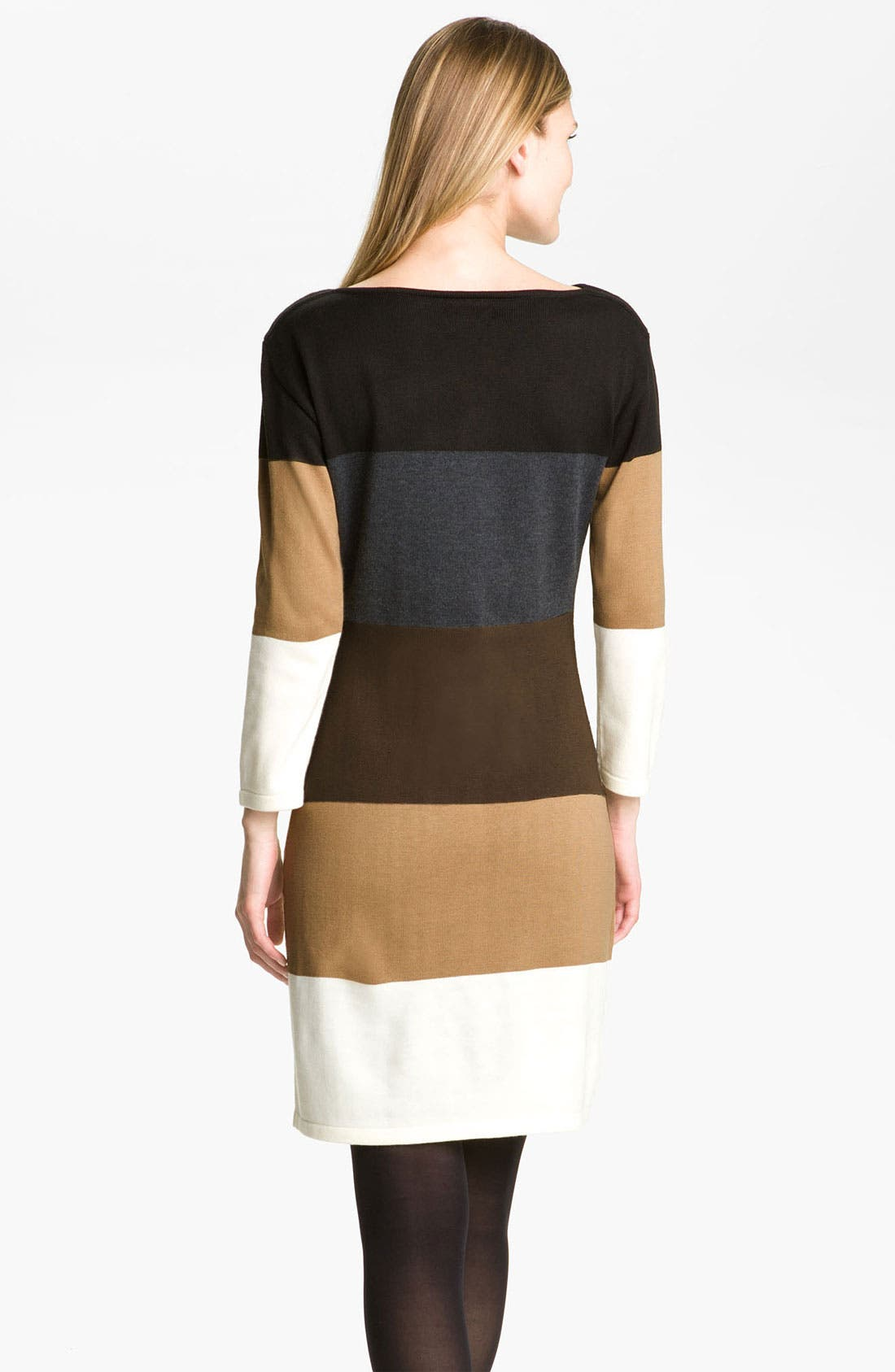 Alternate Image 2  - Calvin Klein Colorblock Sweater Dress