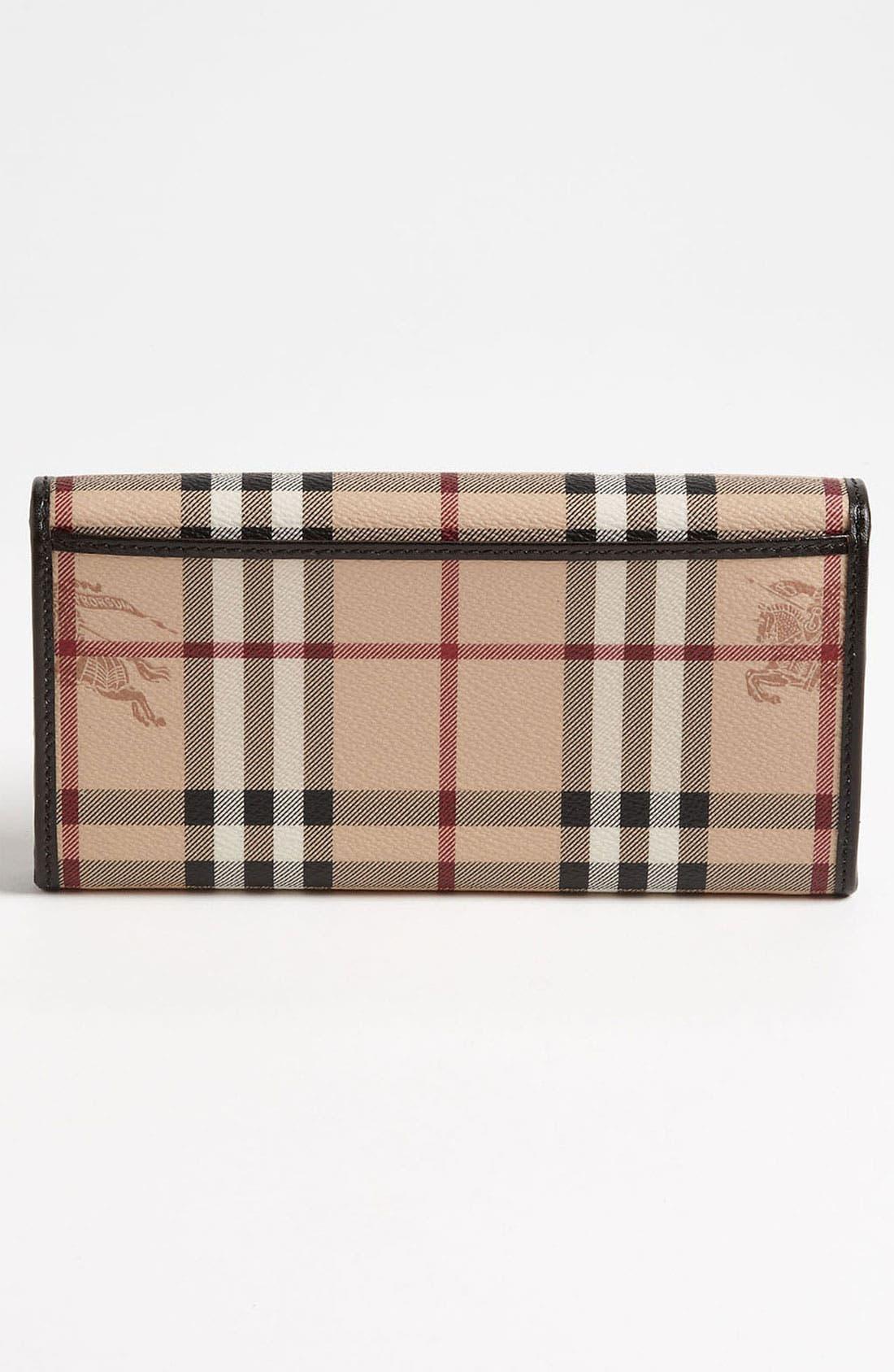 Alternate Image 4  - Burberry 'Haymarket Check' Flap Wallet