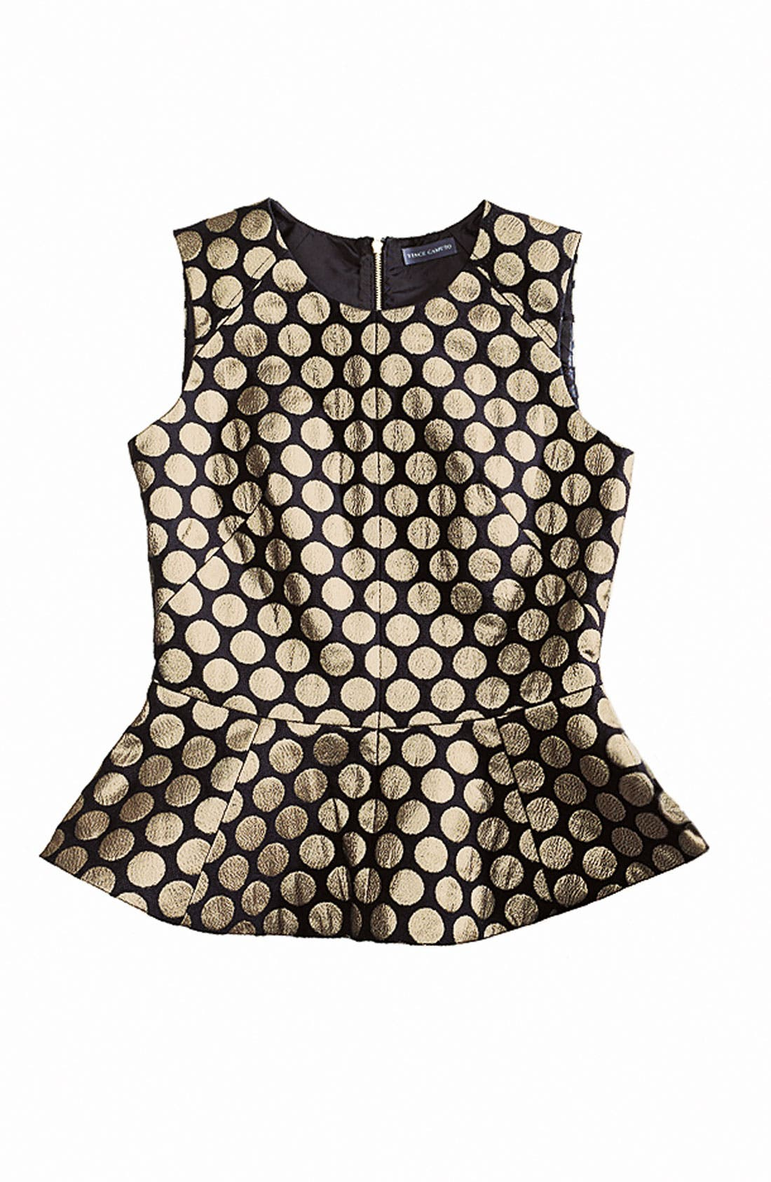 Alternate Image 4  - Vince Camuto Metallic Dot Jacquard Blouse