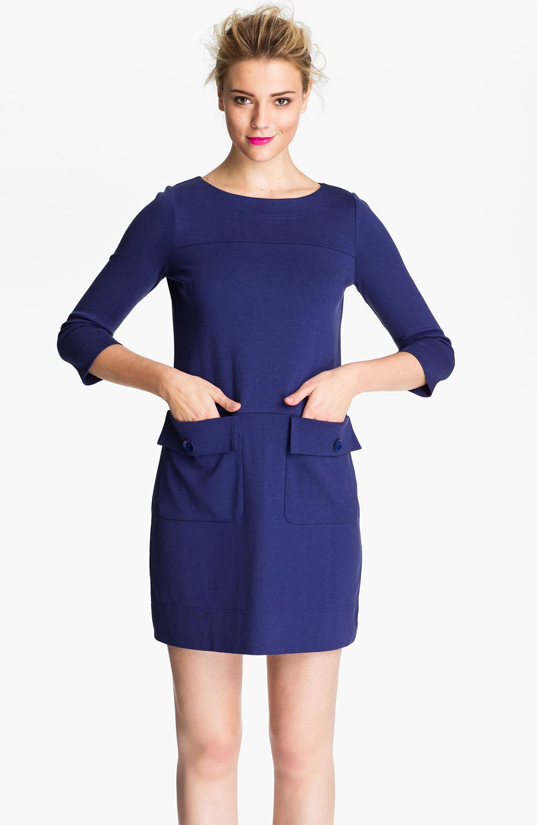 Alternate Image 1 Selected - MARC BY MARC JACOBS 'Billy' Patch Pocket Shift Dress