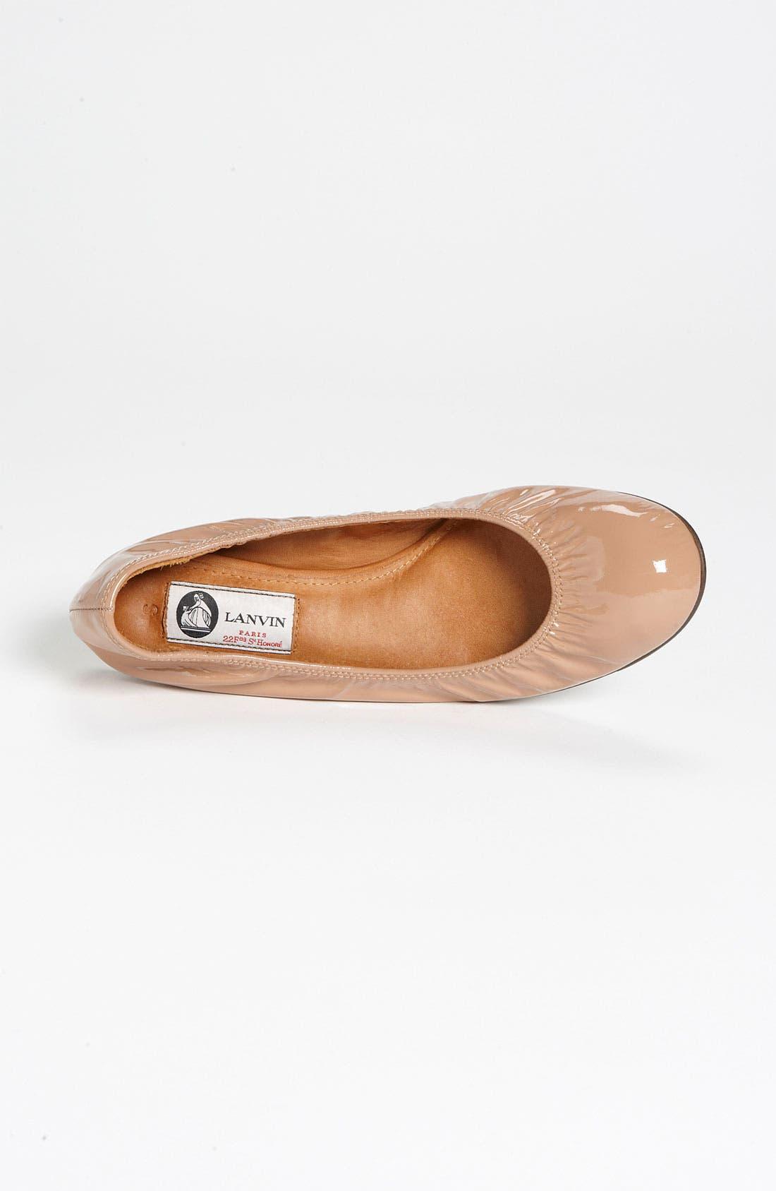 Alternate Image 3  - Lanvin Patent Ballerina Flat