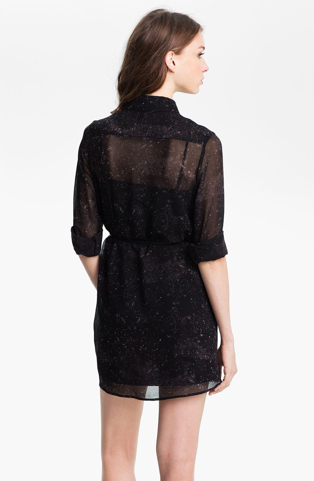 Alternate Image 2  - Kensie Sheer Two Pocket Shirtdress