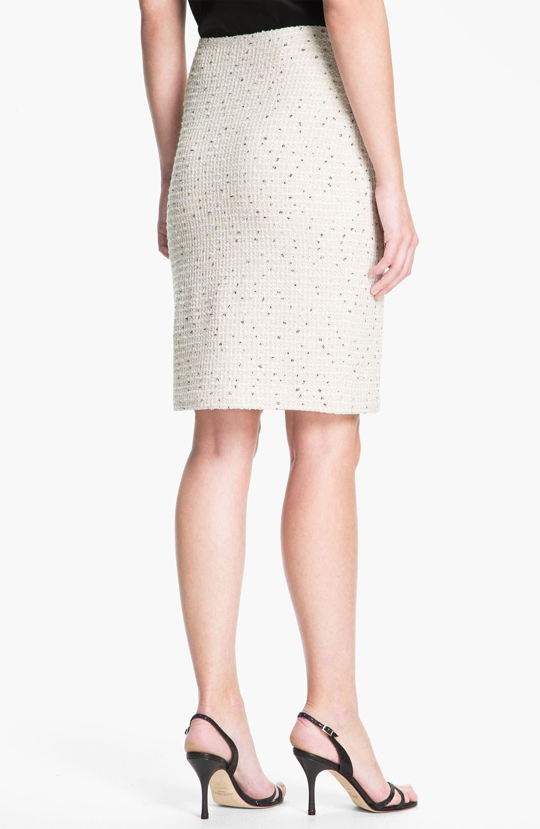 Alternate Image 3  - St. John Collection Shimmer Dot Tweed Pencil Skirt