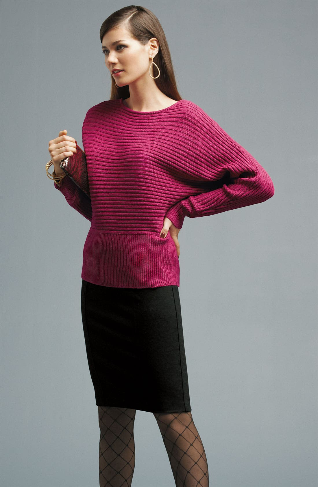 Alternate Image 4  - Fever Rib Knit Dolman Sweater