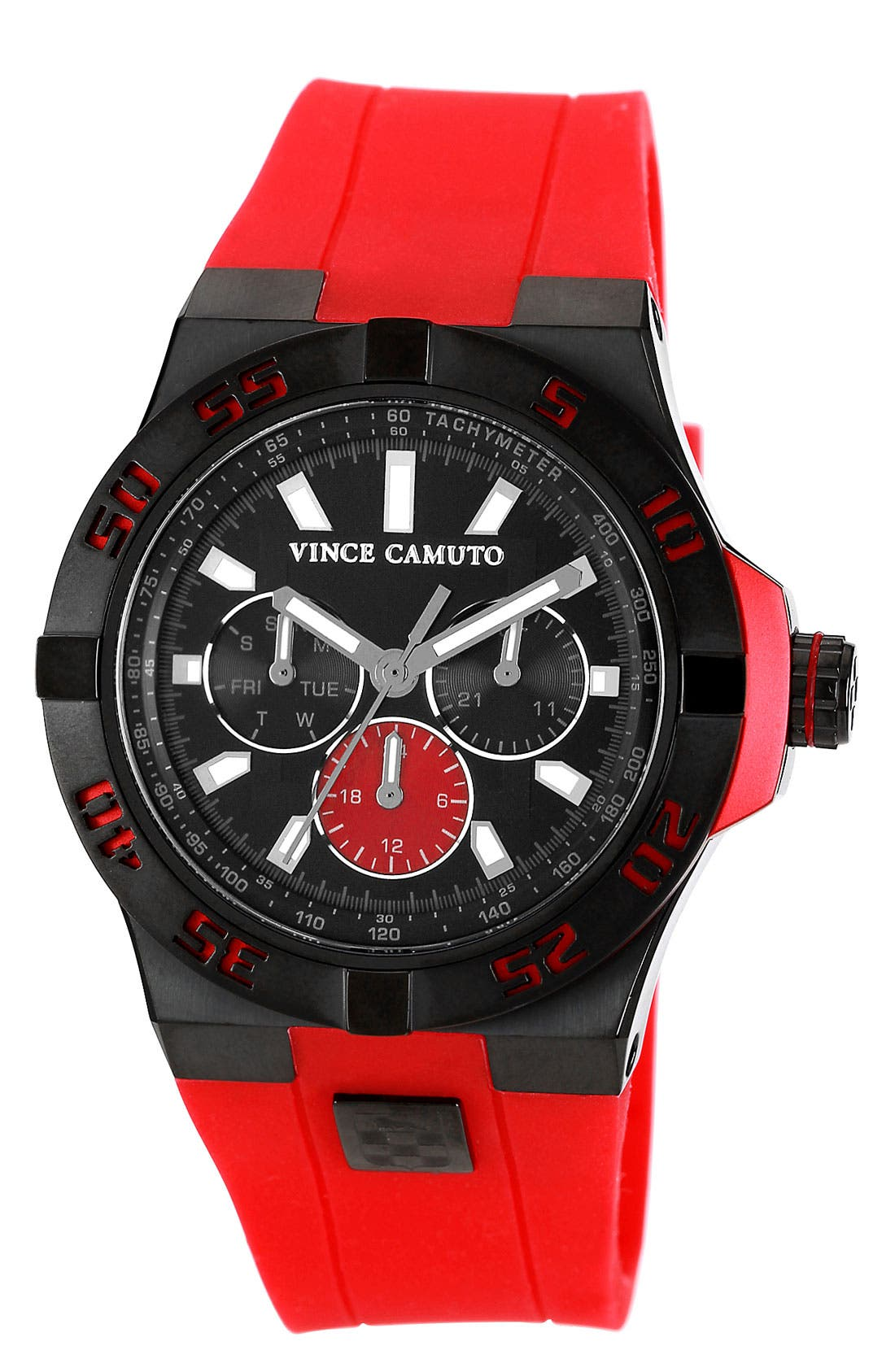 Main Image - Vince Camuto Silicone Strap Watch, 43mm