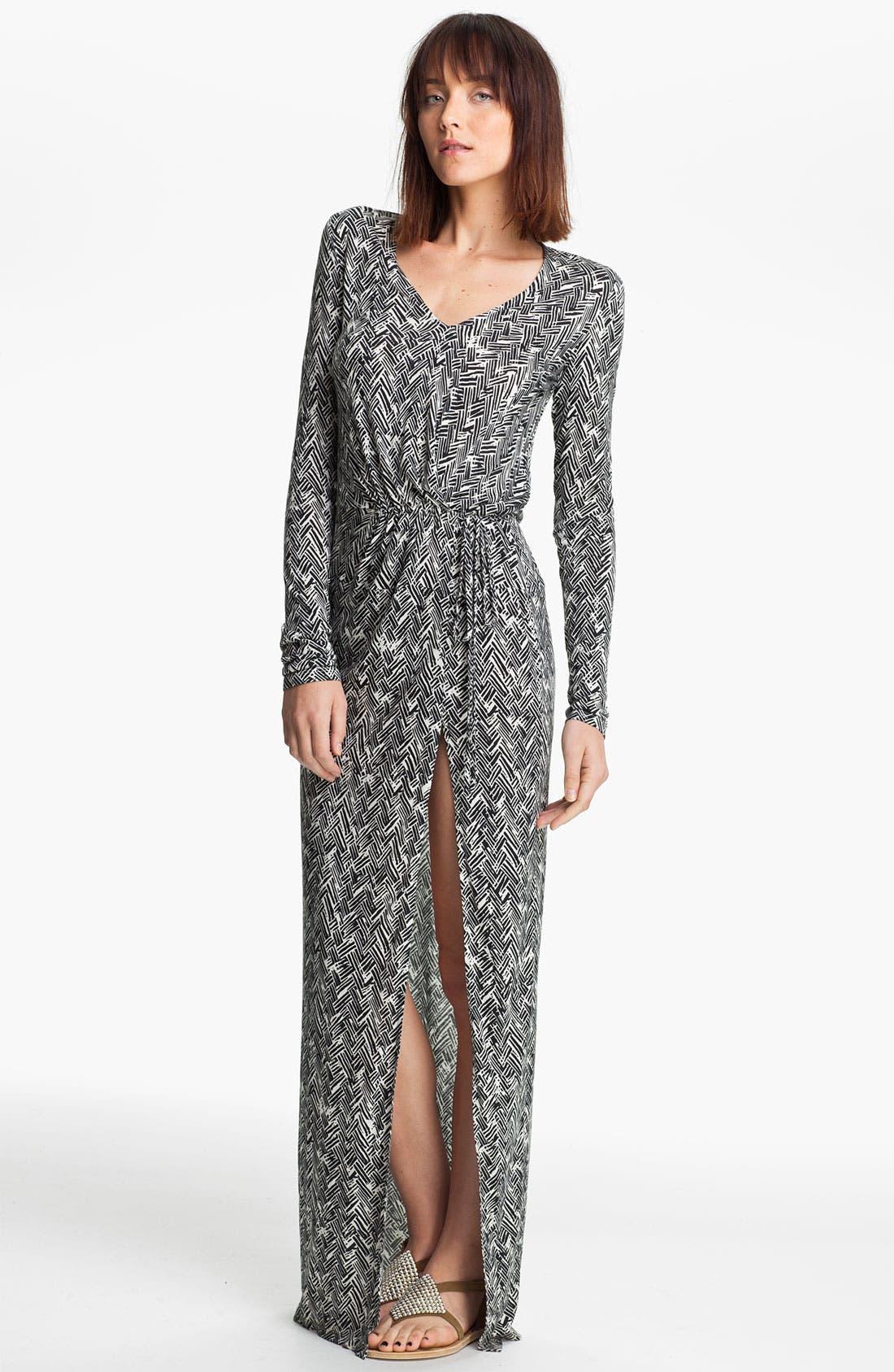 Main Image - Thakoon Carbon Copy Basket Weave Print Maxi Dress