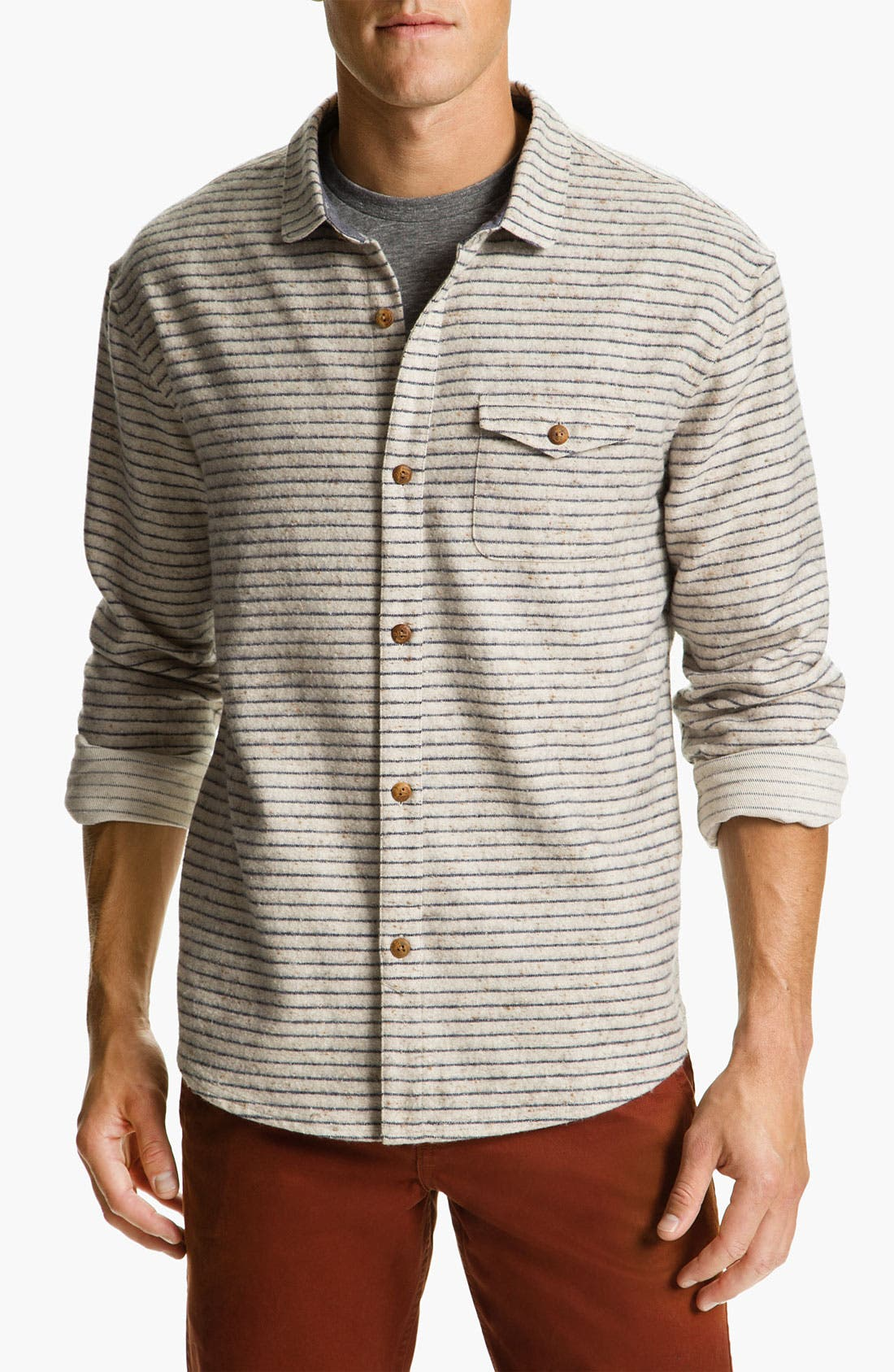 Main Image - Riviera Club 'Tonic' Stripe Woven Shirt