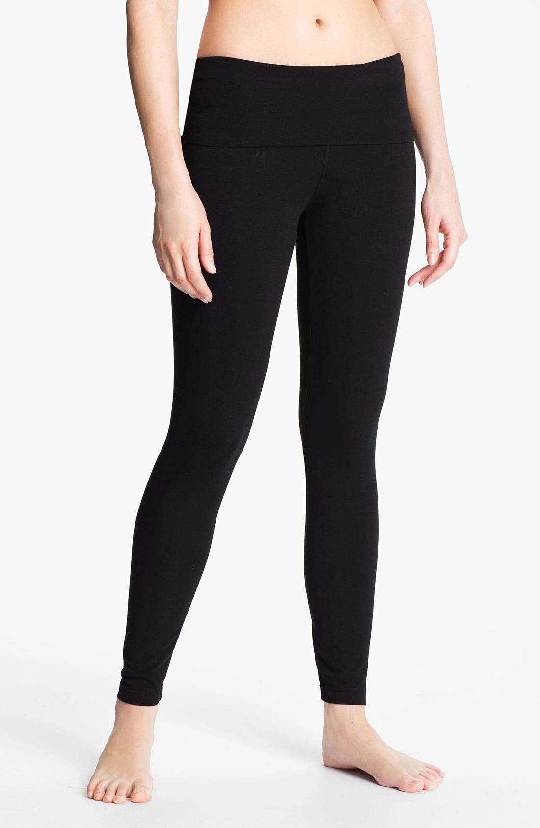 Main Image - Hard Tail Roll Waist Leggings