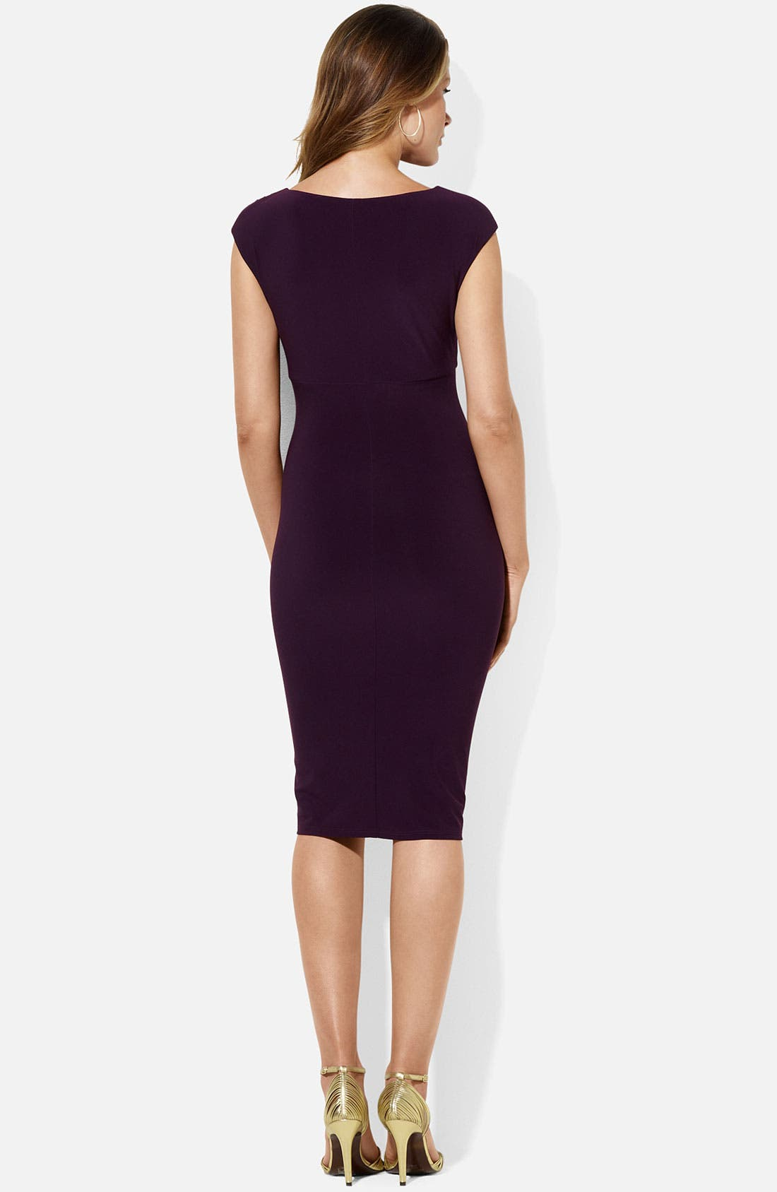 Alternate Image 2  - Lauren Ralph Lauren 'Weller' Jersey Sheath Dress (Petite)
