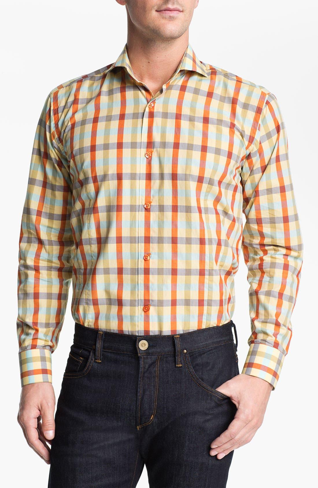 Alternate Image 1 Selected - Bogosse 'Chain 51' Trim Fit Sport Shirt