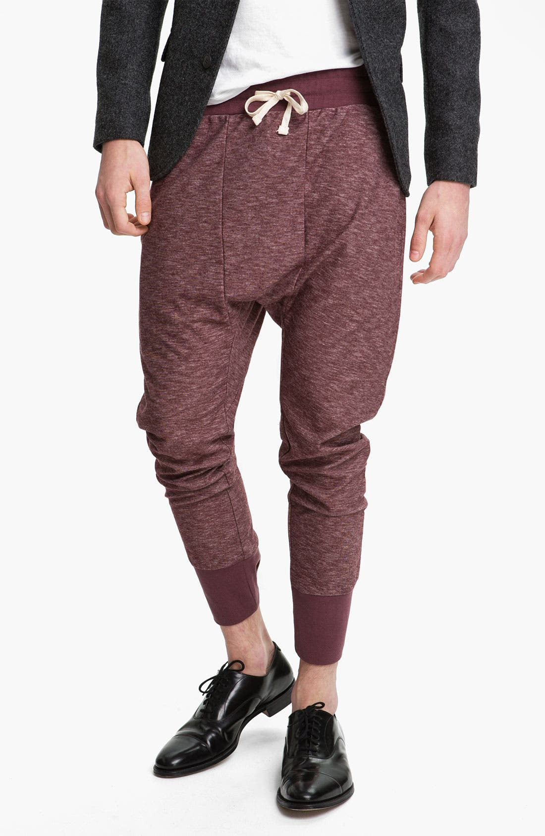 Main Image - Topman 'Zane' Heather Cotton Lounge Pants
