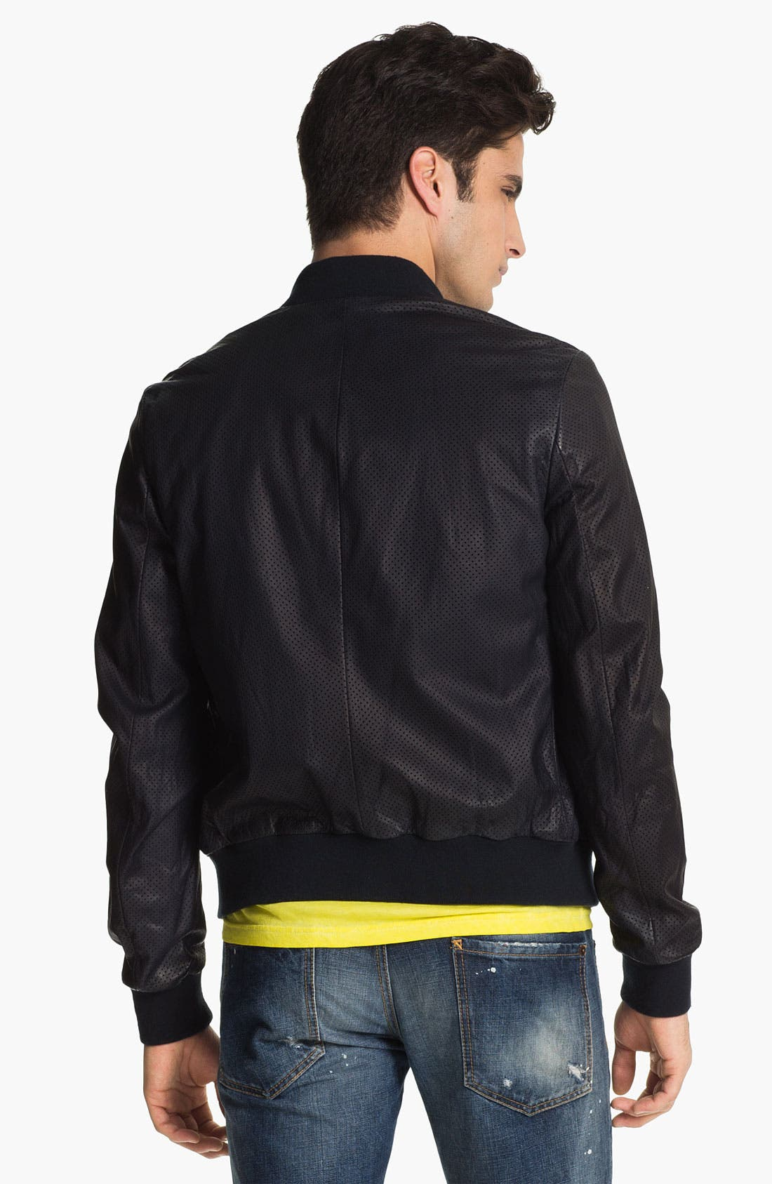 Alternate Image 2  - Dsquared2 Pierced Lamb Leather Jacket