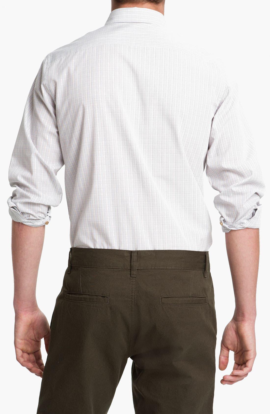 Alternate Image 2  - Topman 'Georgio' Grid Check Woven Shirt