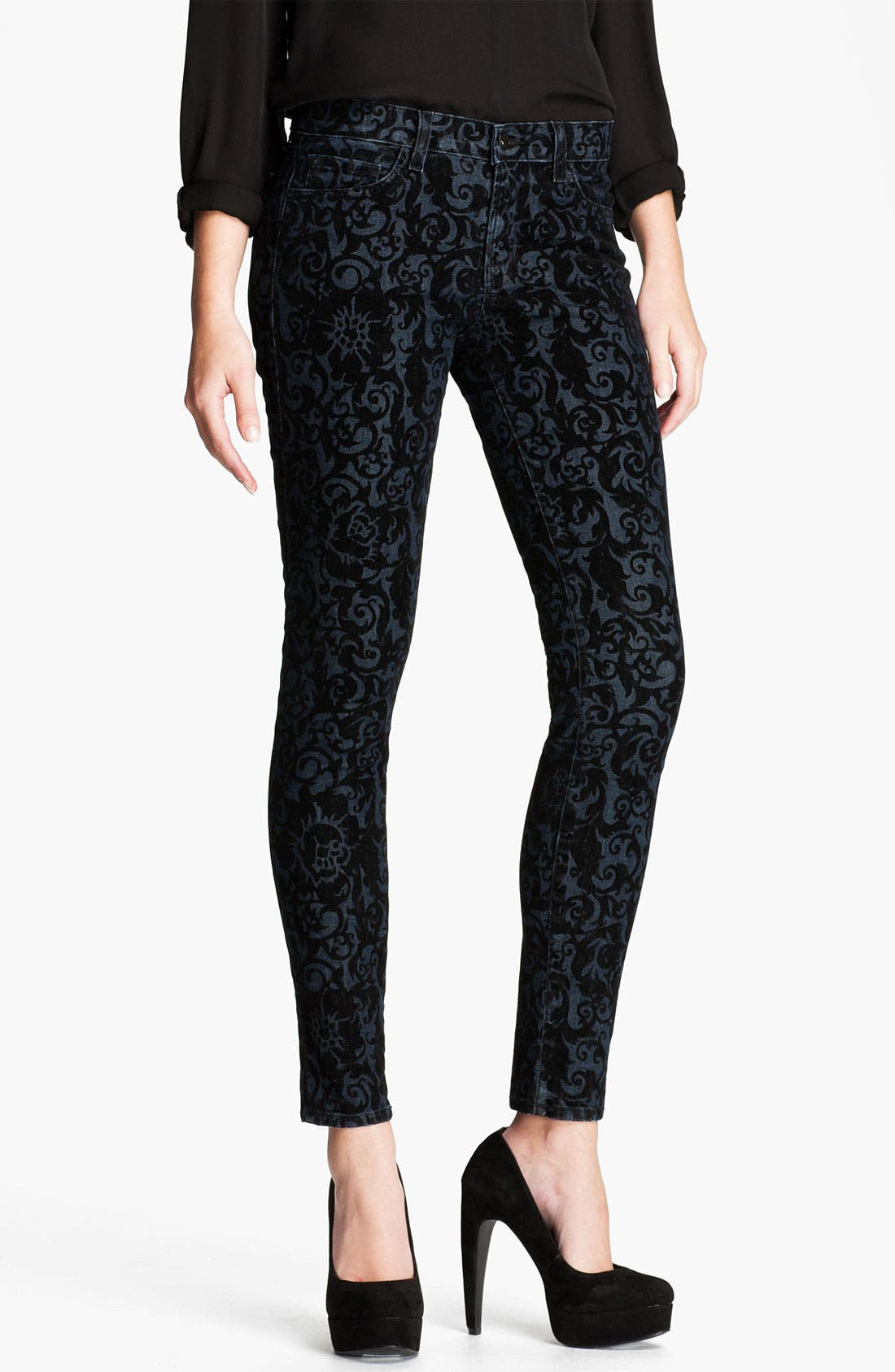 Main Image - J Brand Brocade Print Stretch Denim Skinny Jeans