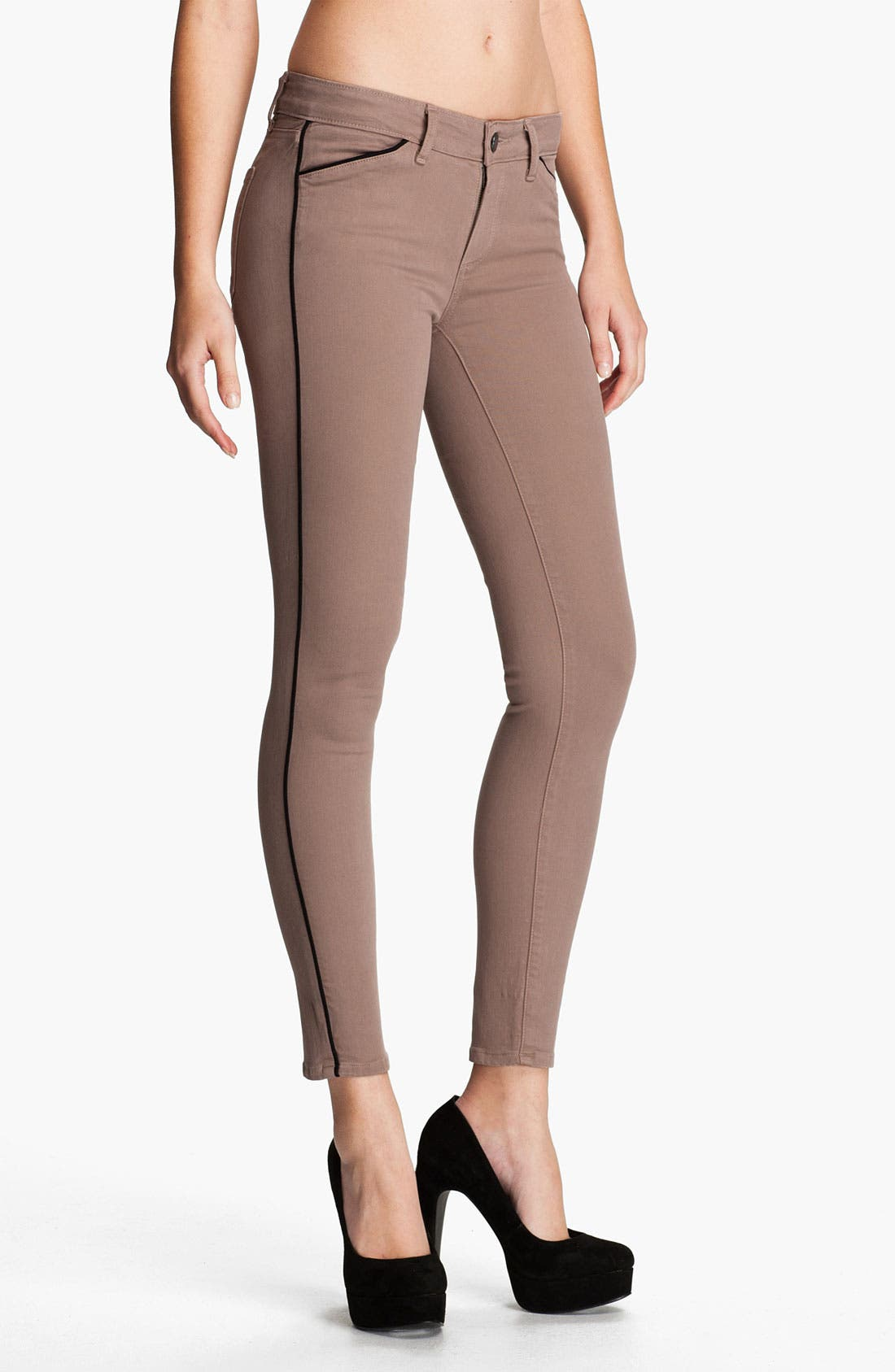 Main Image - Paige Denim 'Pipeline' Skinny Stretch Denim Jeans (Chai/Black)