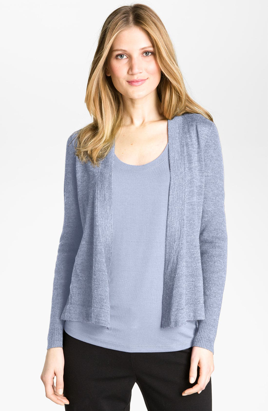 Alternate Image 1 Selected - Eileen Fisher Fine Merino Cardigan