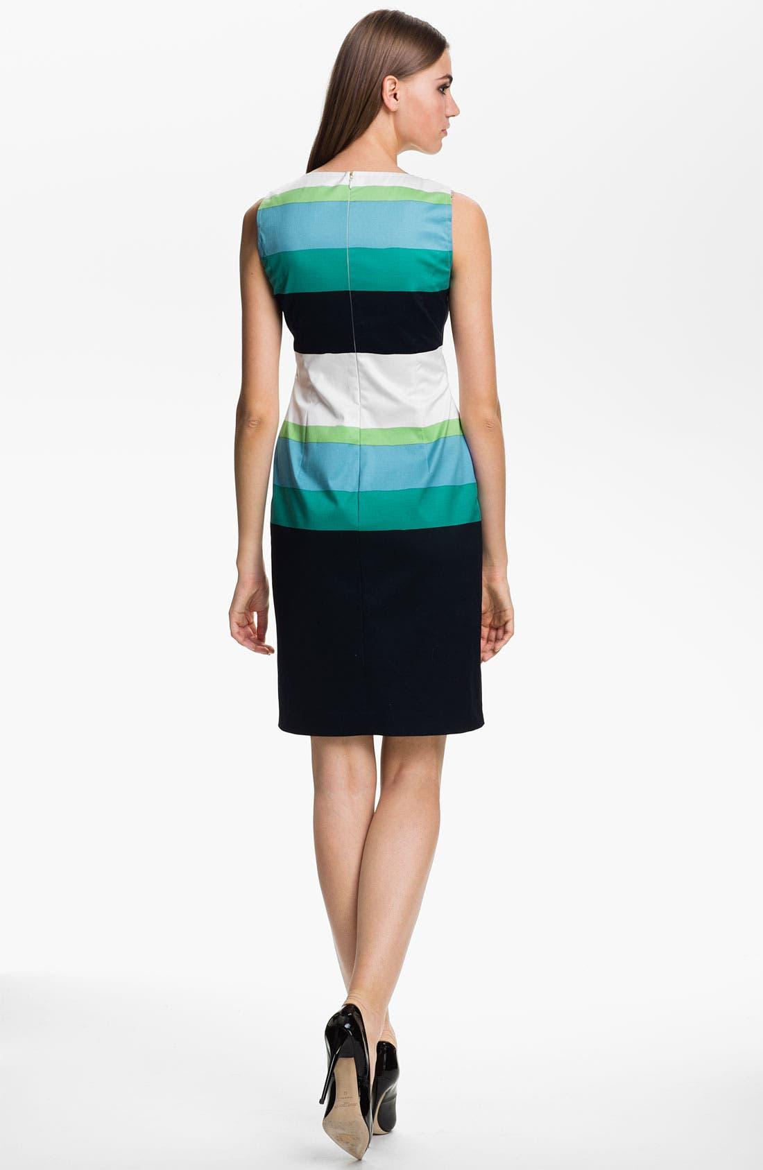 Alternate Image 2  - St. John Collection Stripe Sateen Dress