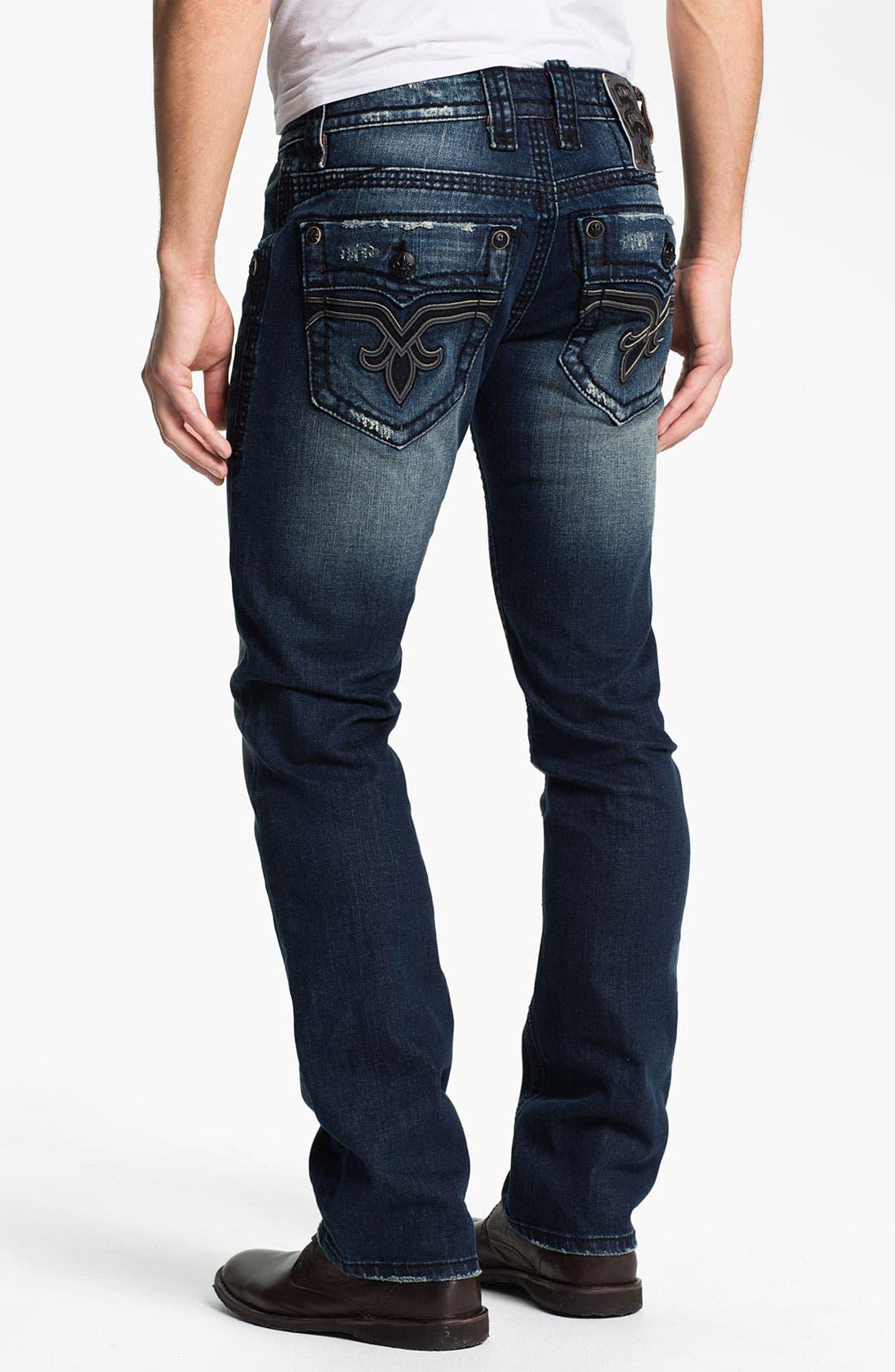 Alternate Image 1 Selected - Rock Revival 'Spencer' Straight Leg Jeans (Medium Blue)