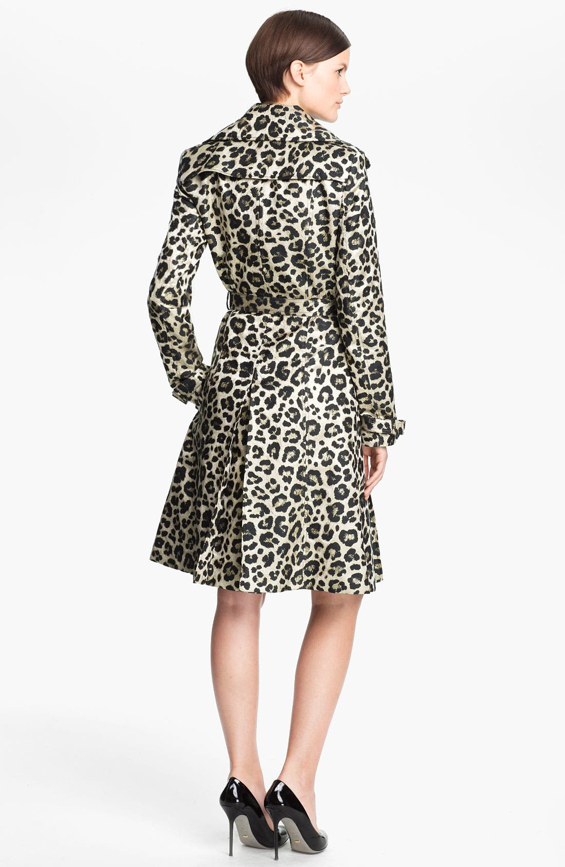 Alternate Image 2  - Alice + Olivia 'Charla' Leopard Print Belted Trench