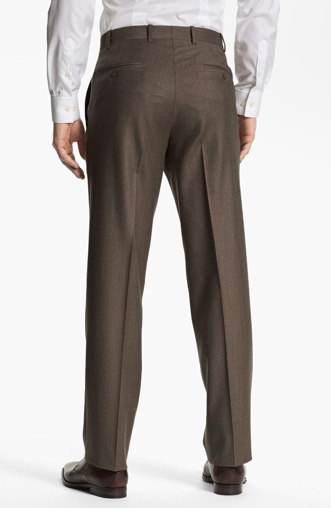 Alternate Image 2  - JB Britches Flat Front Wool & Cashmere Trousers