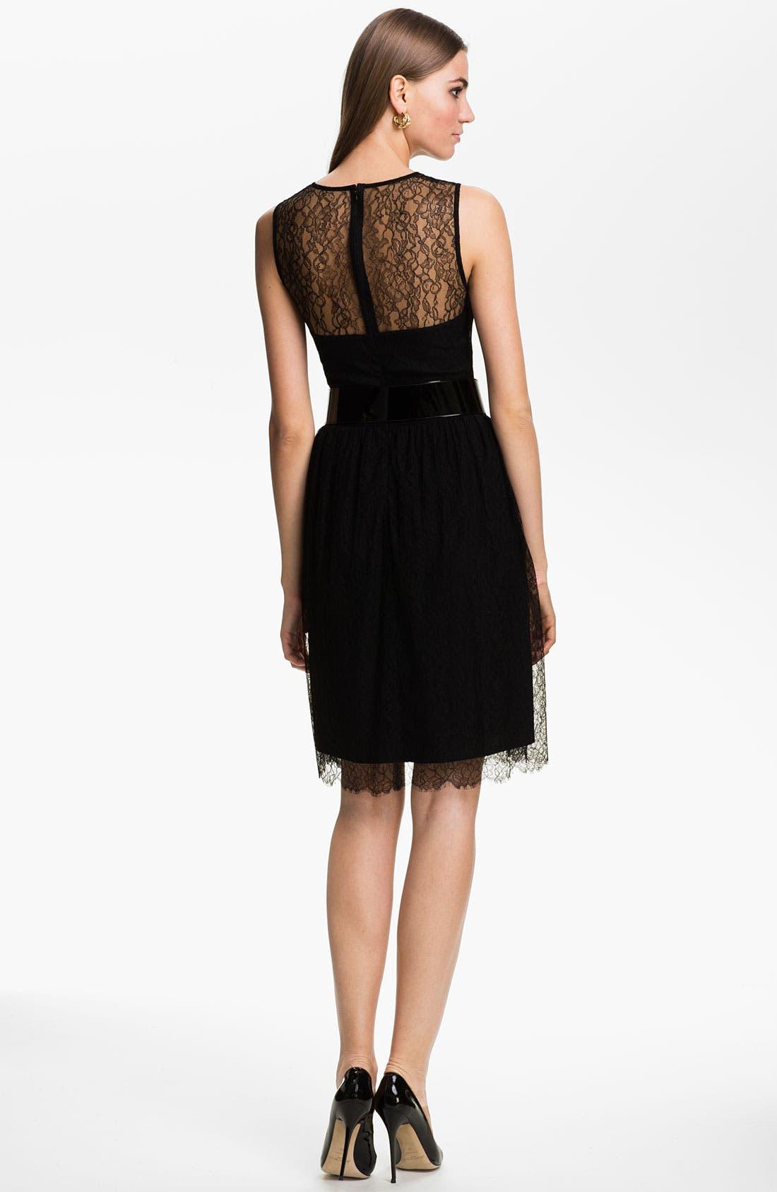 Alternate Image 2  - St. John Collection Sleeveless Chantilly Lace Dress