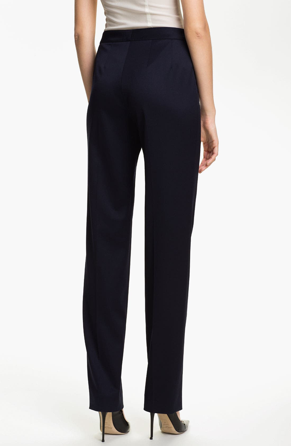 Alternate Image 3  - St. John Collection 'Diana' Straight Leg Venetian Wool Pants