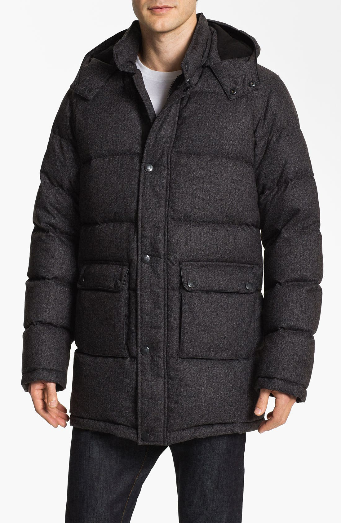 Alternate Image 1 Selected - Vince Camuto Quilted Down & Feather Anorak