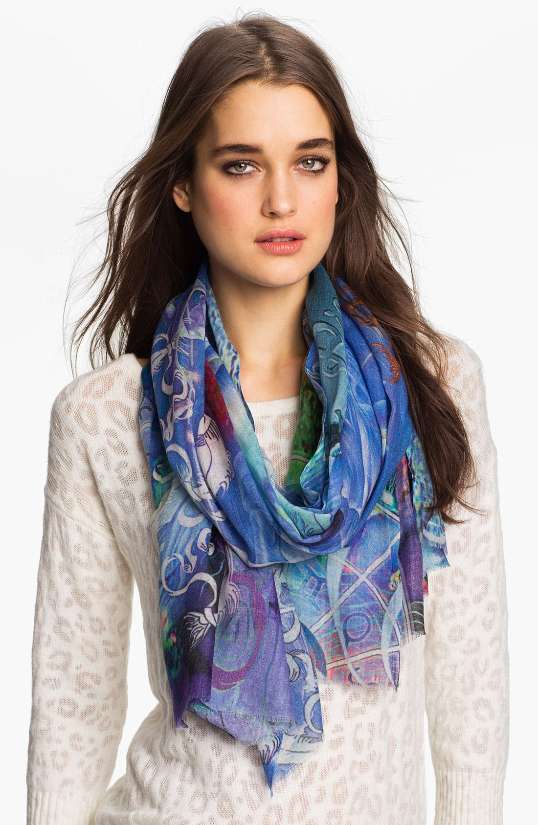 Main Image - Shawlux 'Pisces' Cashmere & Silk Scarf
