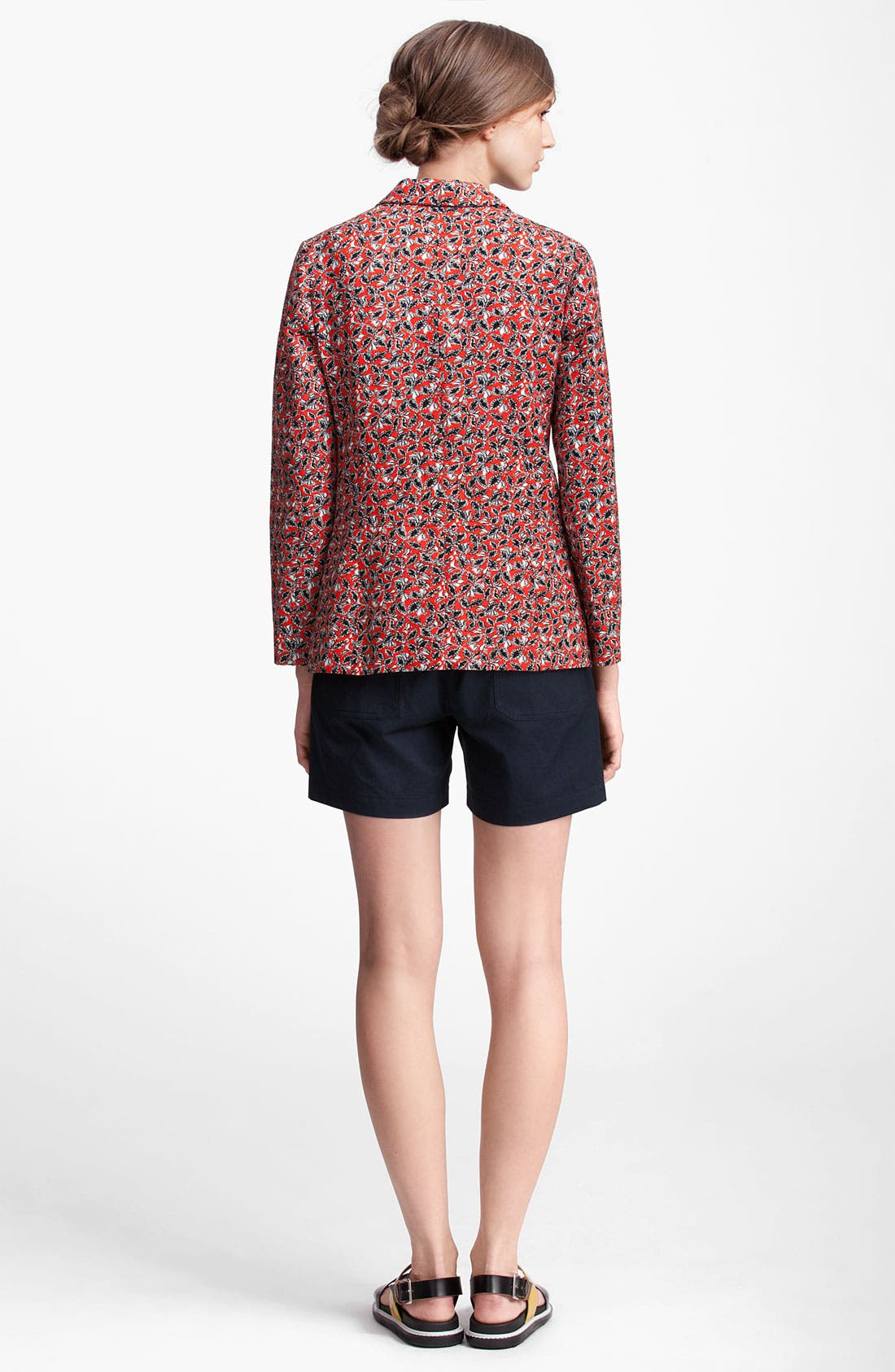 Alternate Image 3  - Marni Edition Leaf Print Linen Blend Jacket