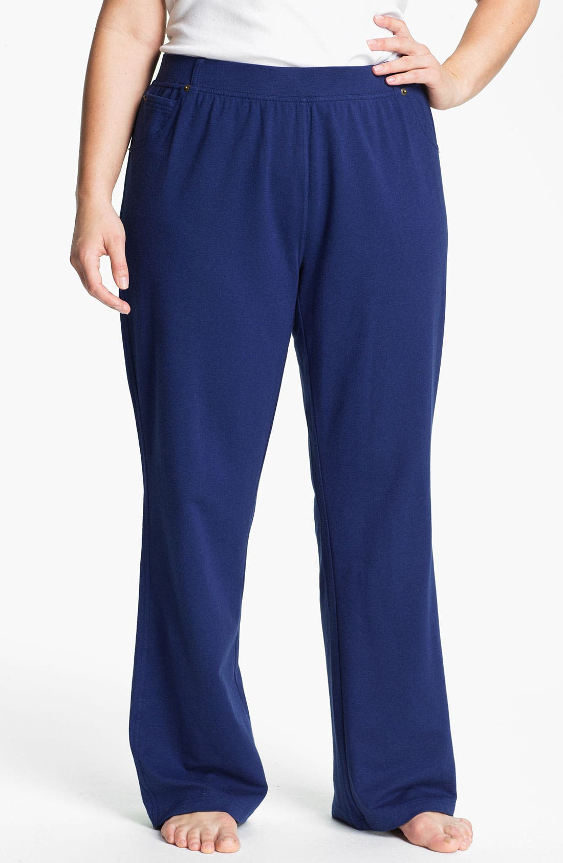 Alternate Image 1 Selected - Sejour Faux Pocket Knit Pants (Plus)