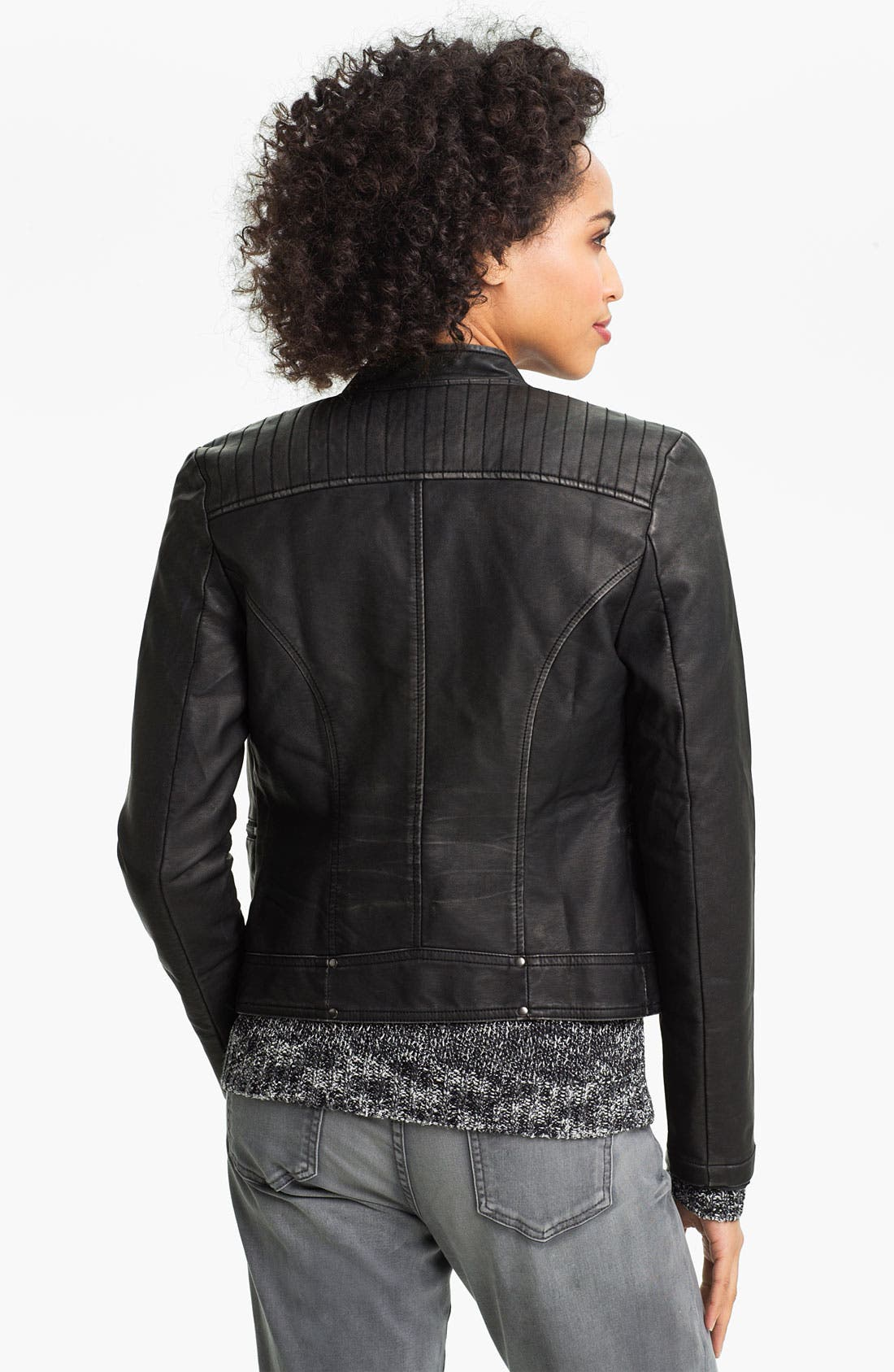 Alternate Image 2  - KUT From The Kloth Faux Leather Moto Jacket