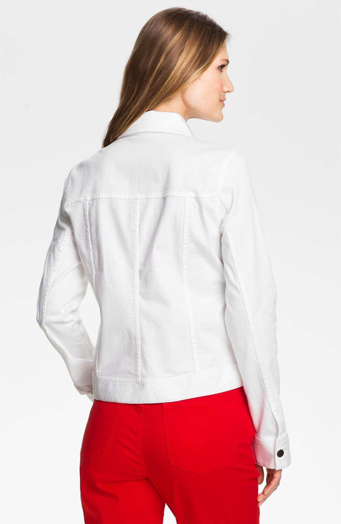 Alternate Image 2  - Eileen Fisher Organic Stretch Cotton Denim Jacket